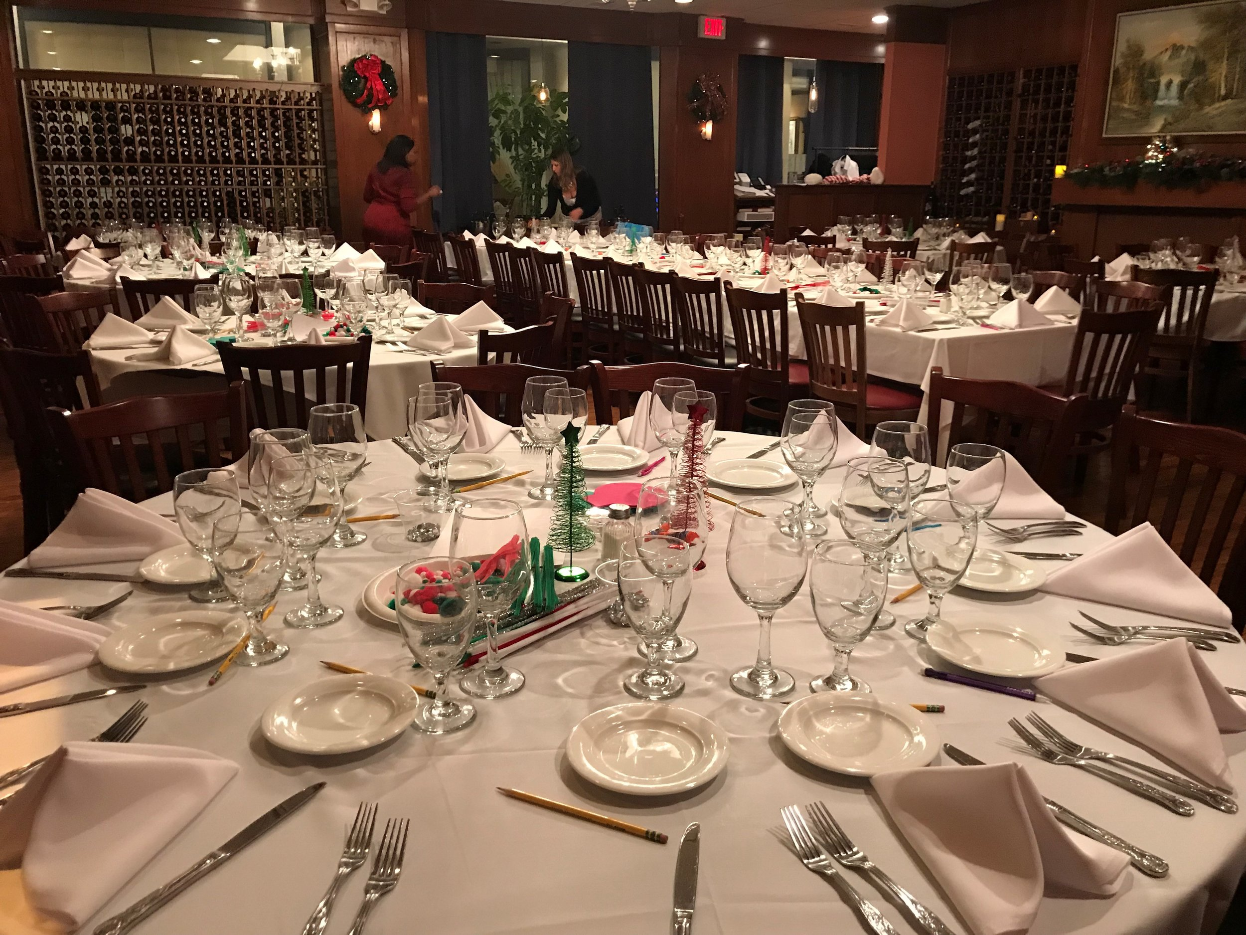 The dining room at Delvina.