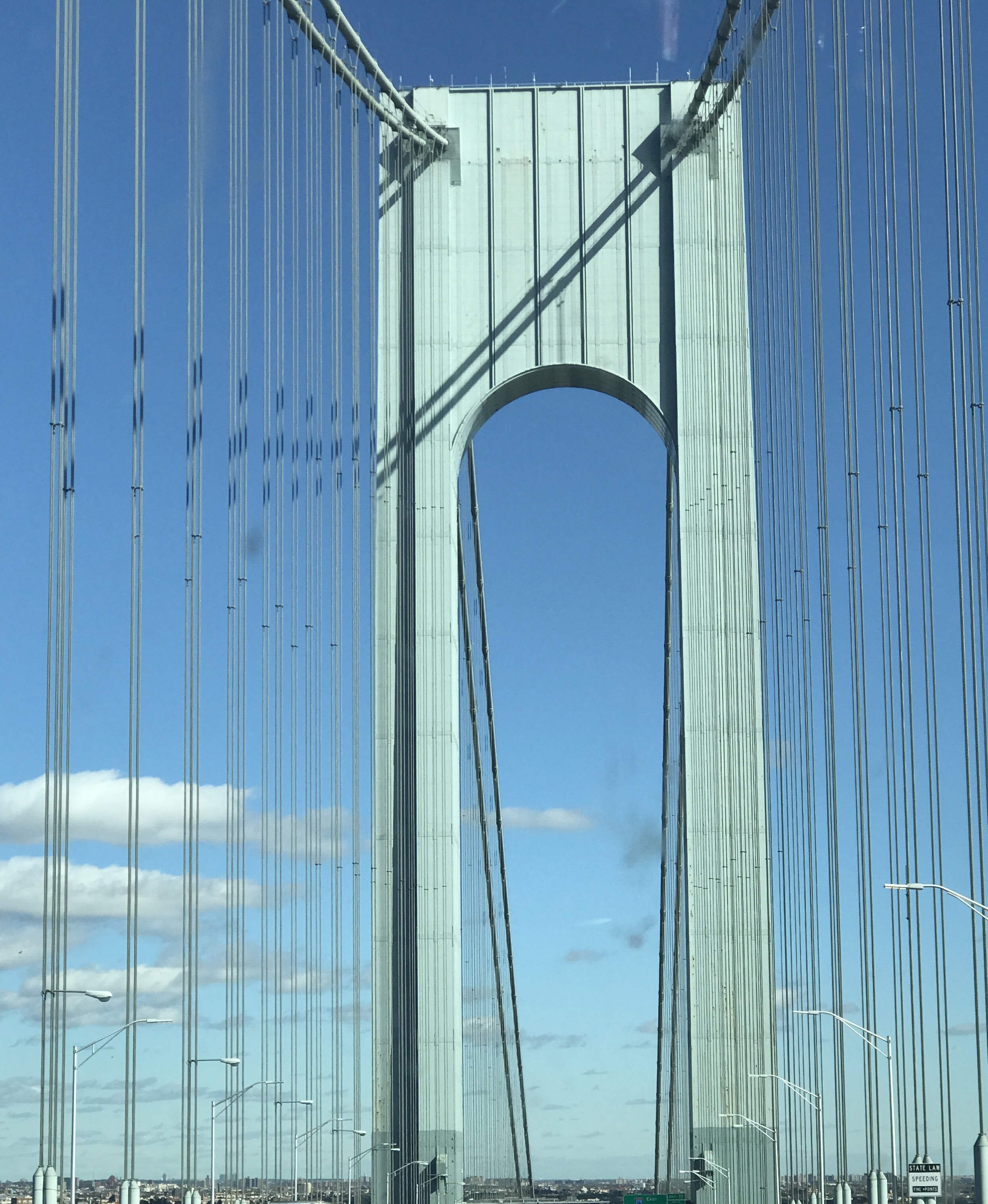 A shot of the Verrazano bridge when we were returning from a recent road trip from seeing my family in Tennessee and Alabama.