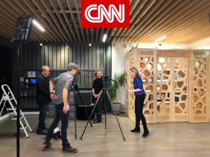 January 15, 2018 - CNN's Clare Sebastian interviews Andy Dunn, founder and CEO of Bonobos and Bernd Schoner, founder and CEO of DeepMagic.