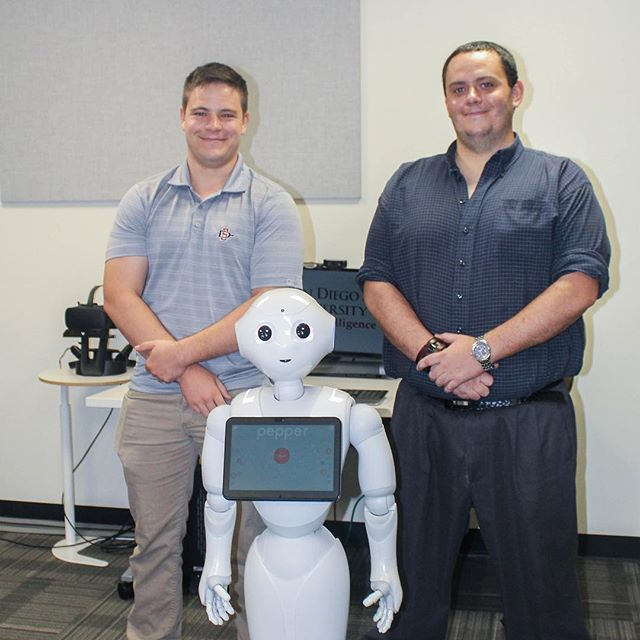 AI Lab Student Robot team presenting their summer research progress