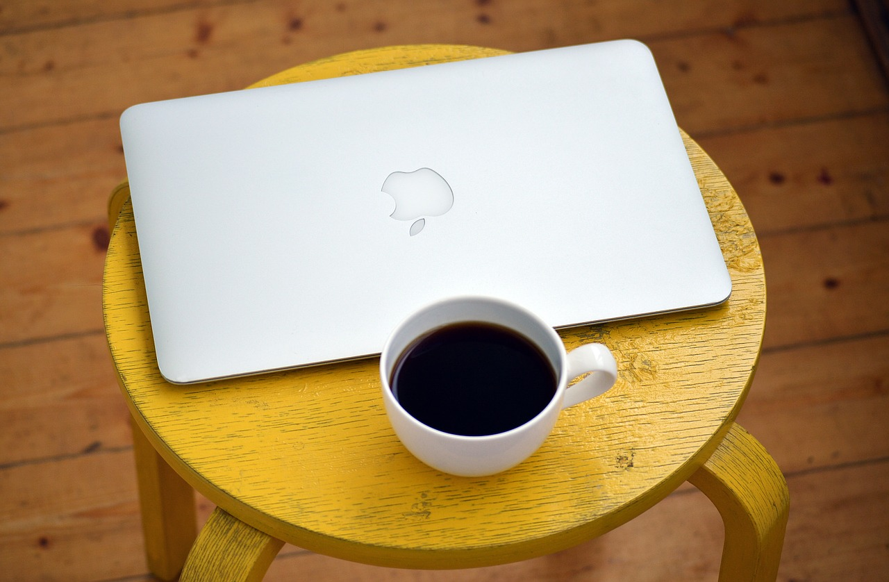 Coffee and a Macbook Pro.