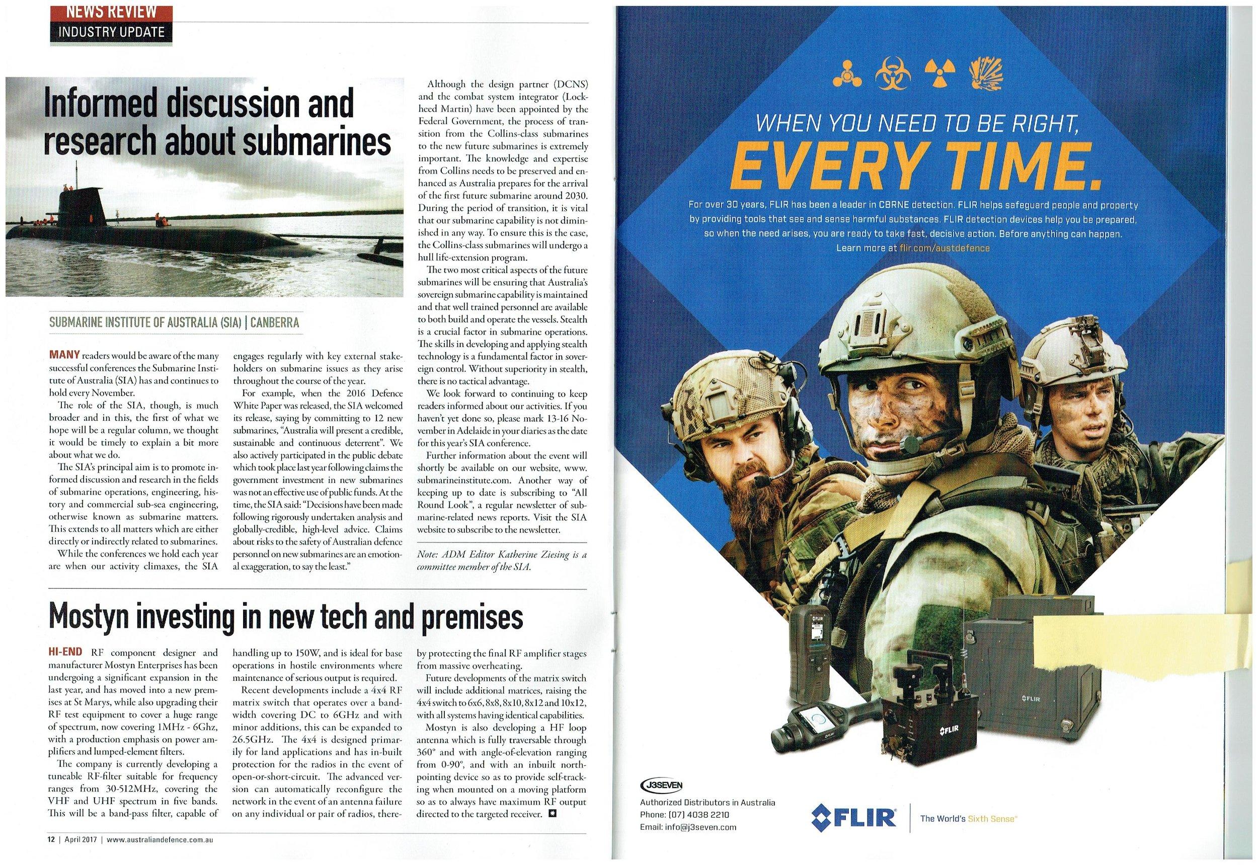 Australian Defence Magazine extract