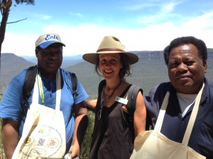 WPC 2014 PNG Delegation with Dr Rosalie Chapple on our Low Carbon Grand Cliff Top tour.