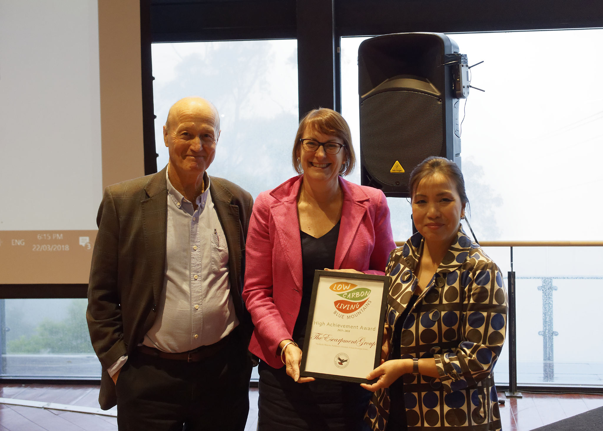 BMWHI executive director John Merson, with MP Susan Templeman, and the Escarpment Group director Huong Nguyen.