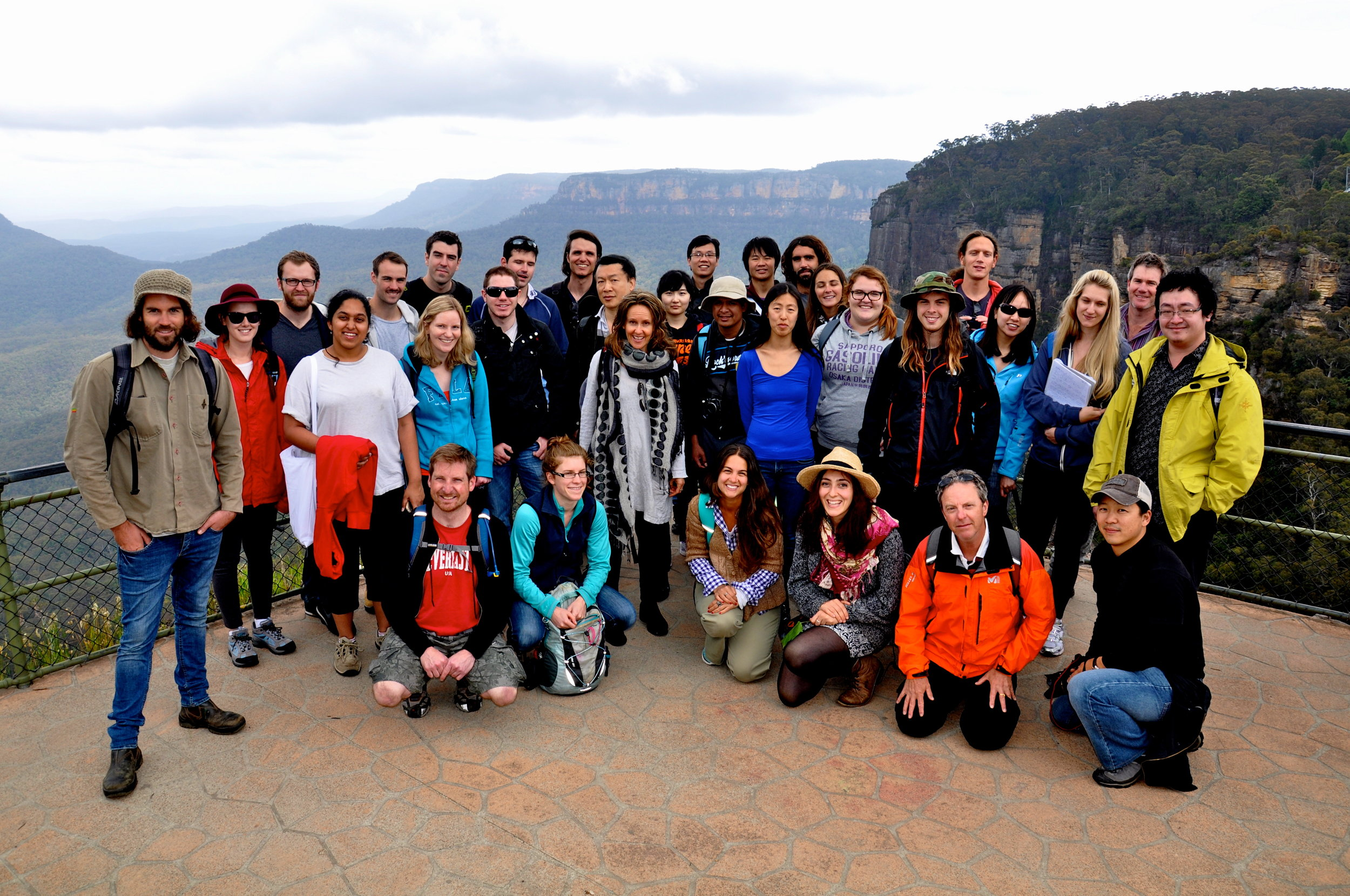 Students from the Master of Environmental Management program at the University of New South Wales, Sydney, studying protected area management in the Blue Mountains.