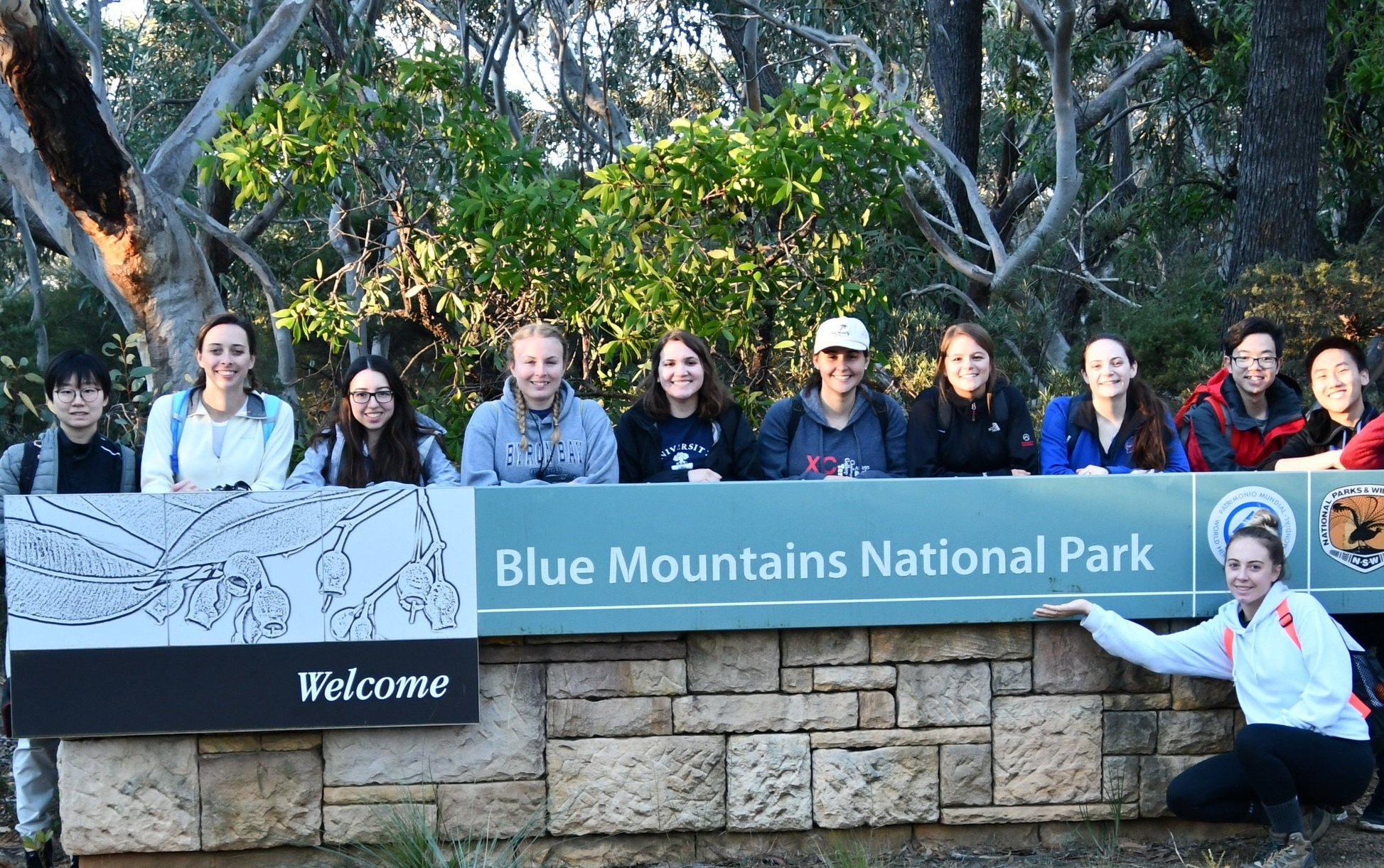 Students from China, Canada and the USA travelled abroad to learn about Australia's protected areas.
