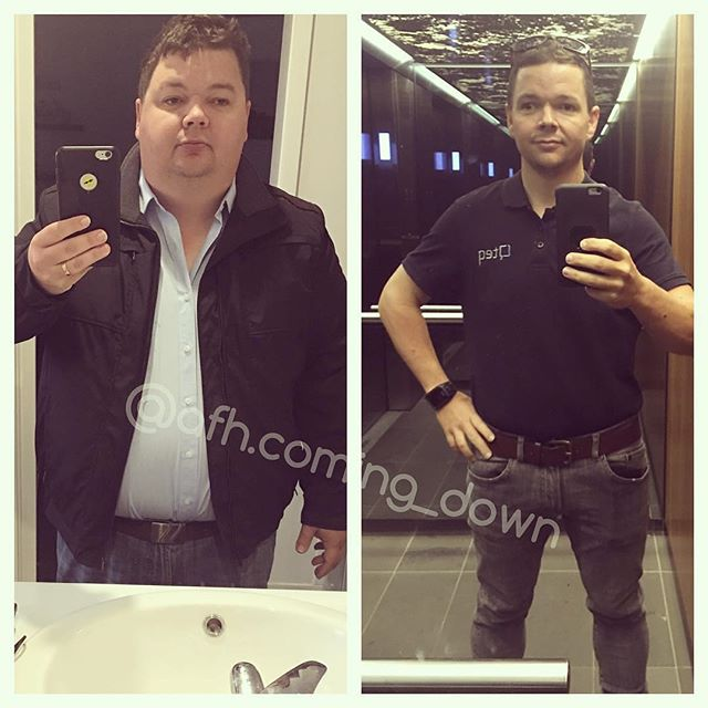Down over 100 lbs - what a transformation! 👏👏👏🙌 . Reposting @afh.coming_down⠀ ...⠀ #transformationtuesday combined with a few #sds tags from @icantweightnomore @formallychubbyhubby @beardo2.0_vsg @miss_liveurlife .⠀ .⠀ Rocking some new jeans today. Couldn't help the lift selfie. Felt so confident walking through the city today. Can't believe the difference this is having on my self esteem (except with shirt off haha).