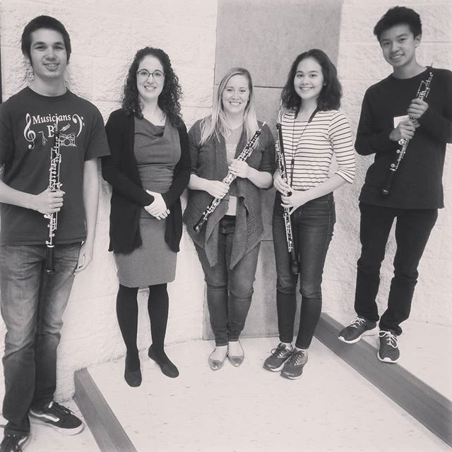 We had an incredible time at Oboe Day at @concordia_mn in Moorehead yesterday!  Two students worked with the fabulous Dr. Courtney Miller at @uiowaoboes . . . . #idrslife #oboelove #oboe #oboist #oboethang #doublereed #oboeyoudidnt #oboepower #instagood