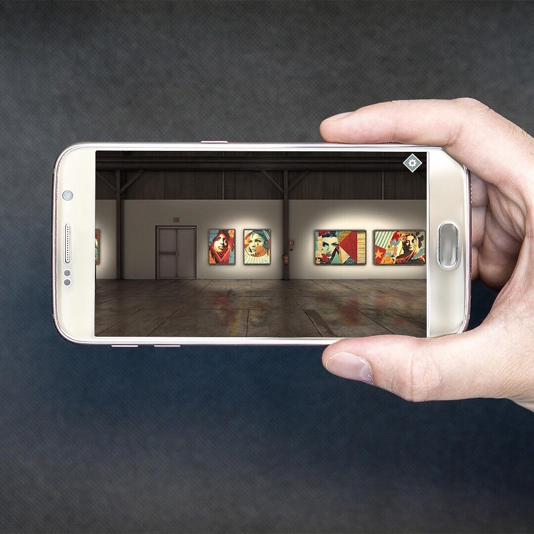 A NEW REALM FOR ART - Never before has it been this easy to visit an art exhibition. With the DAMAGED app, users can view the DAMAGED exhibit and listen to 100 minutes of personal narration by Shepard Fairey.Free to download up to May 1st – Download here