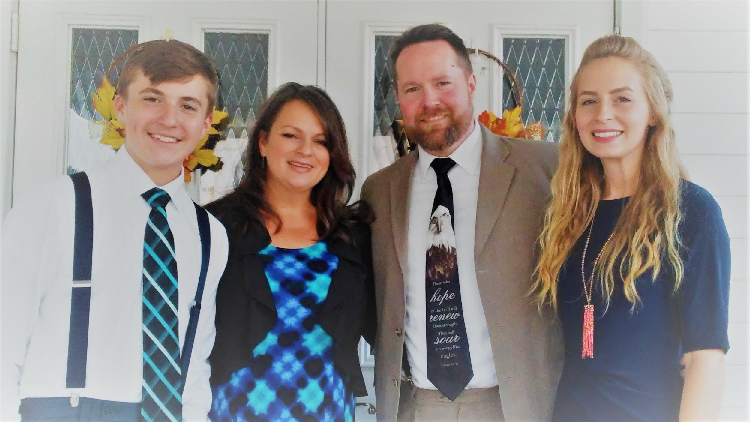 - Pastor Scott & Mrs. Deana w/ children Kayla & Scottie