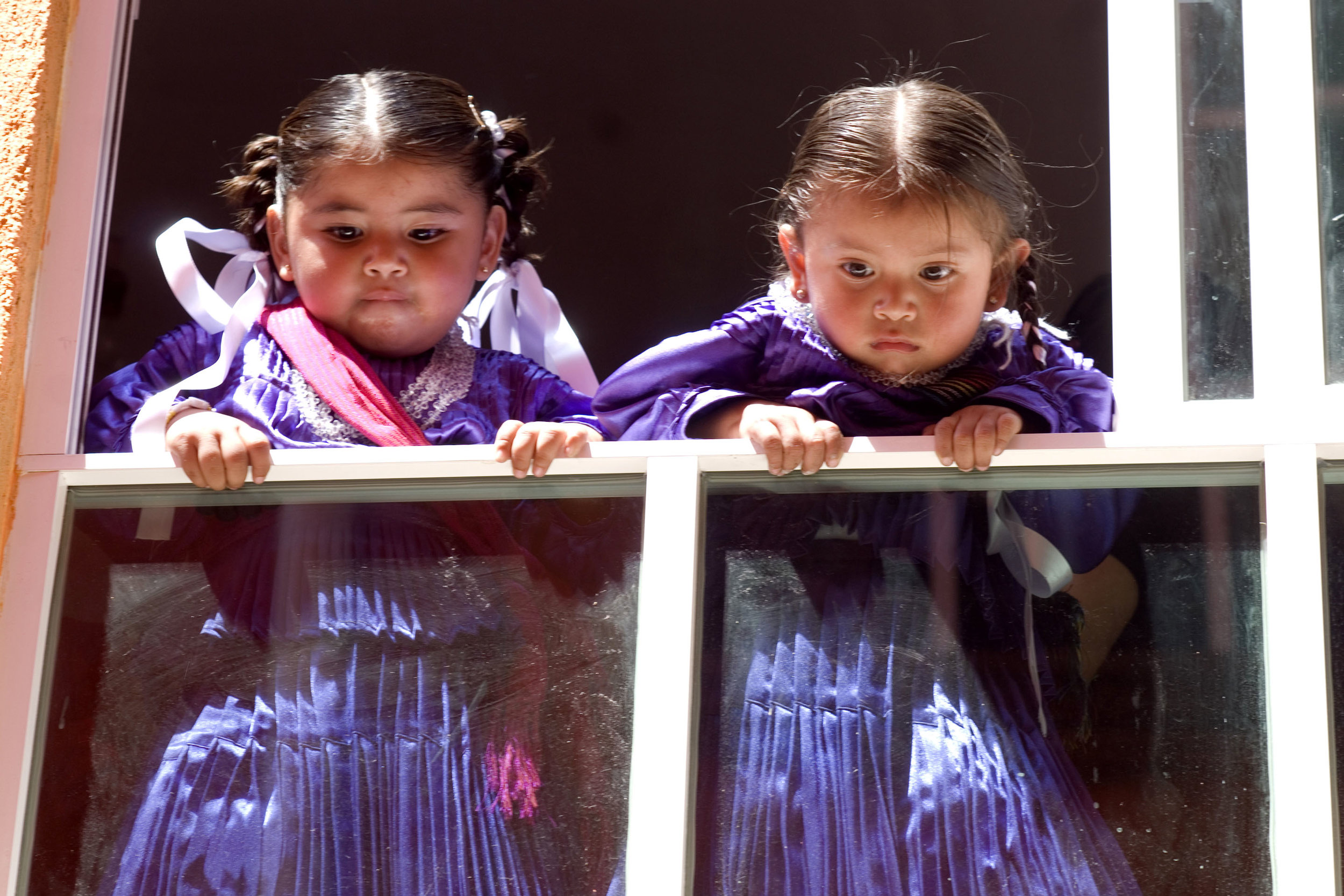 Mazahua Girls* in Traditional Dresses    by Jorge Ontiveros from Celebraciones Mexicanas: History, Traditions and Recipes. ALL RIGHTS RESERVED.