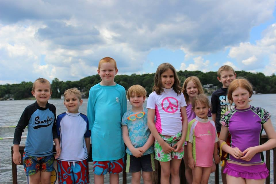 All the cousins from Virginia are excited to welcome an adopted child to their family