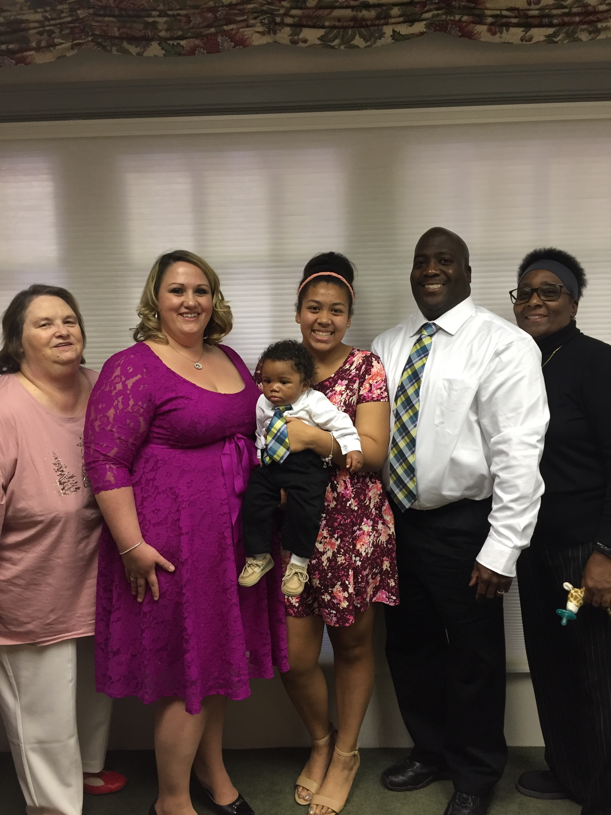 Adoption Day- the day Asher legally became ours.  Sara's mother (Lala), Sara, Aleks, Asher, Shawn, and Shawn's mother (Meme).