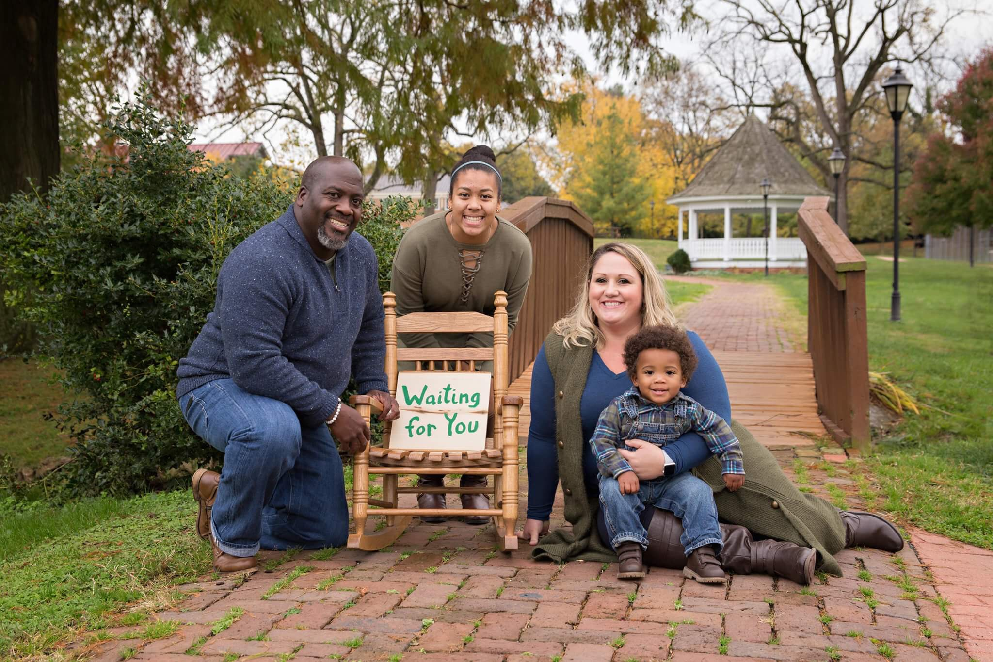 Washington DC family of four praying to adopt a child