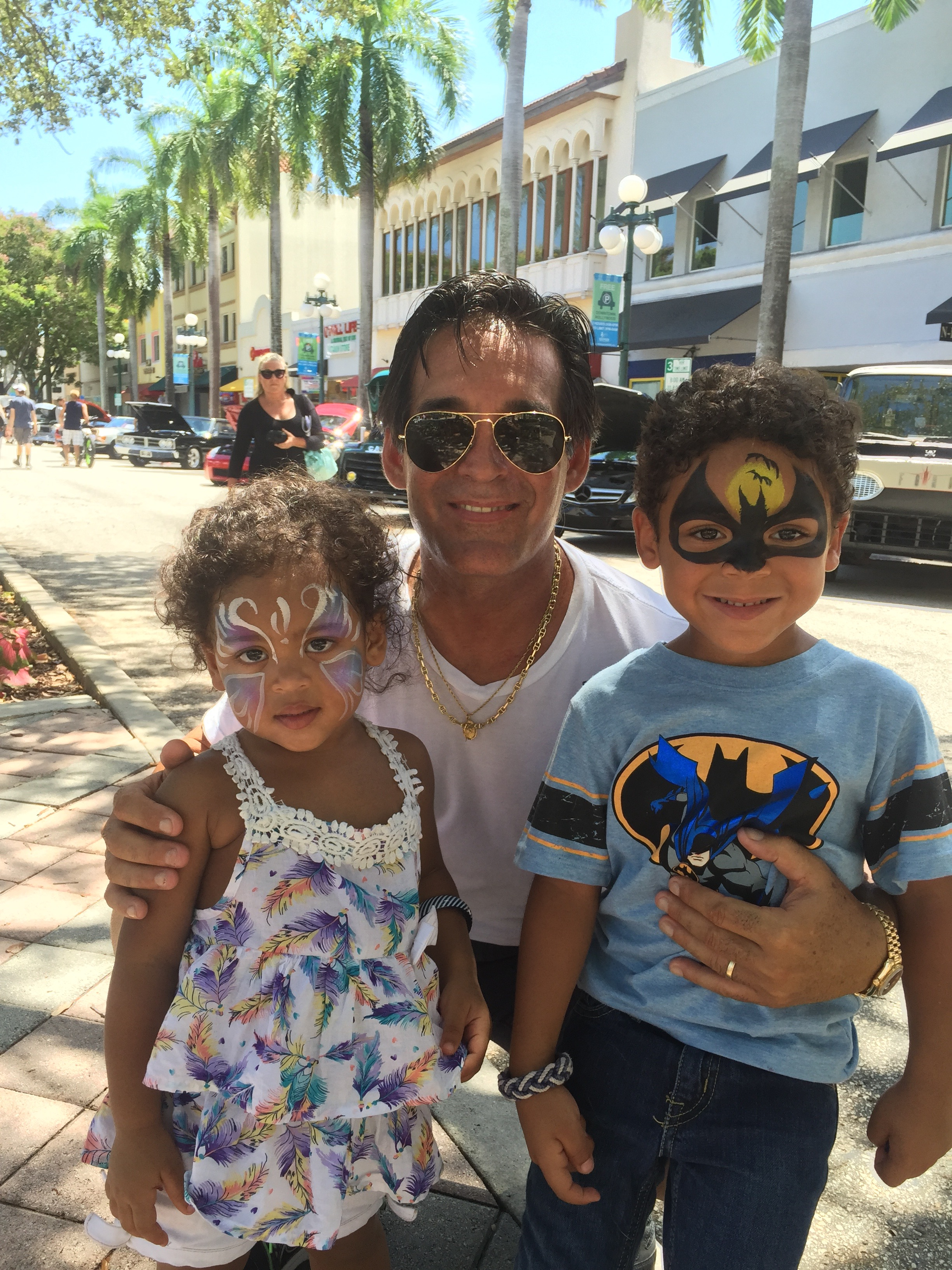 Facepainting fun with our 2 grandchildren