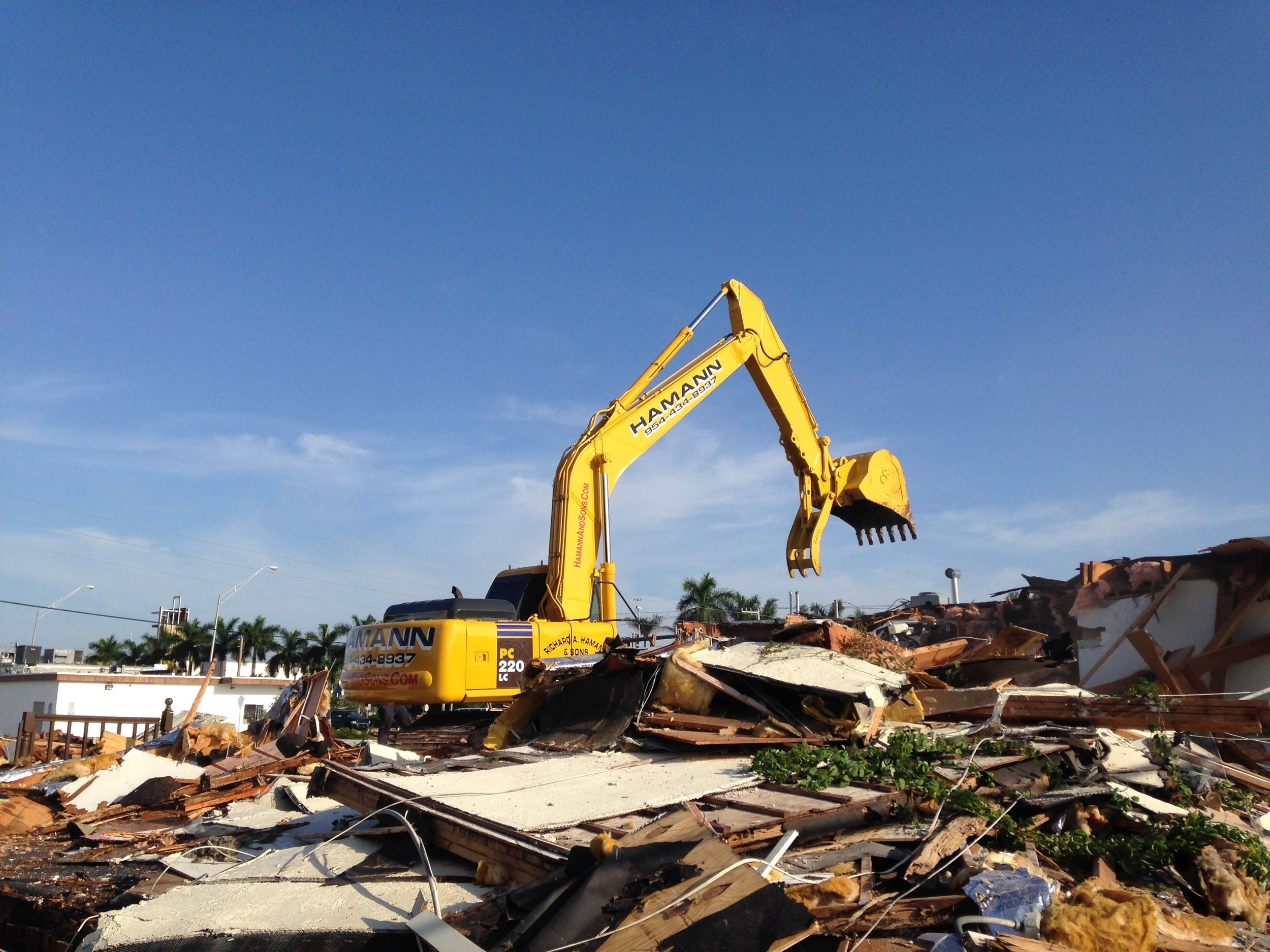 Our family business is Demolition
