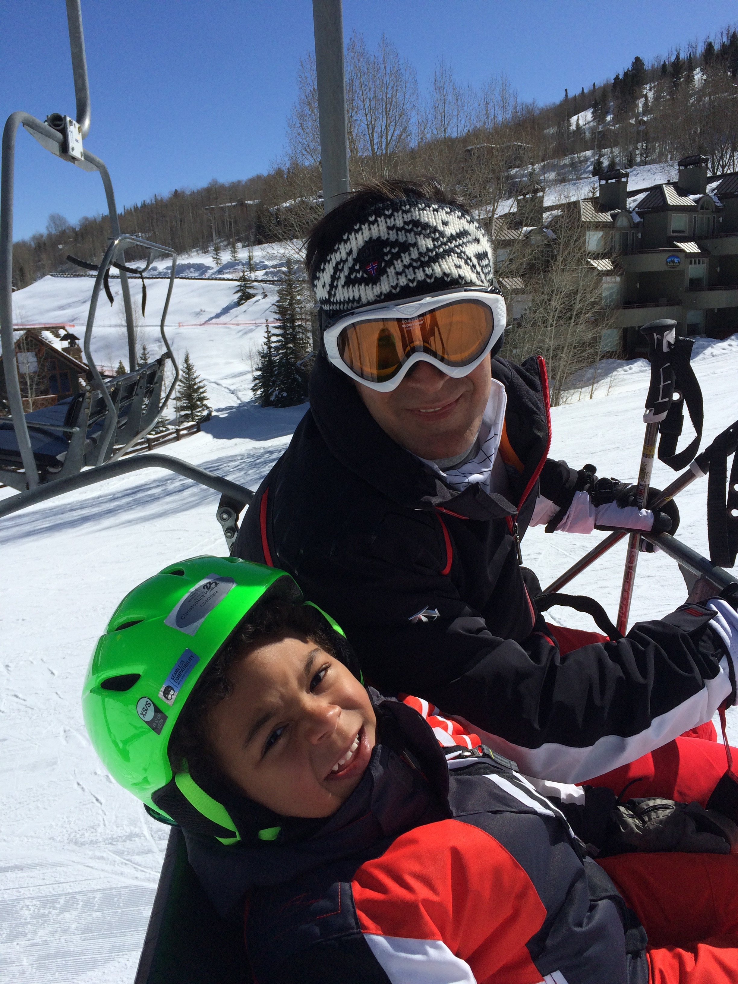 Skiing with our grandson