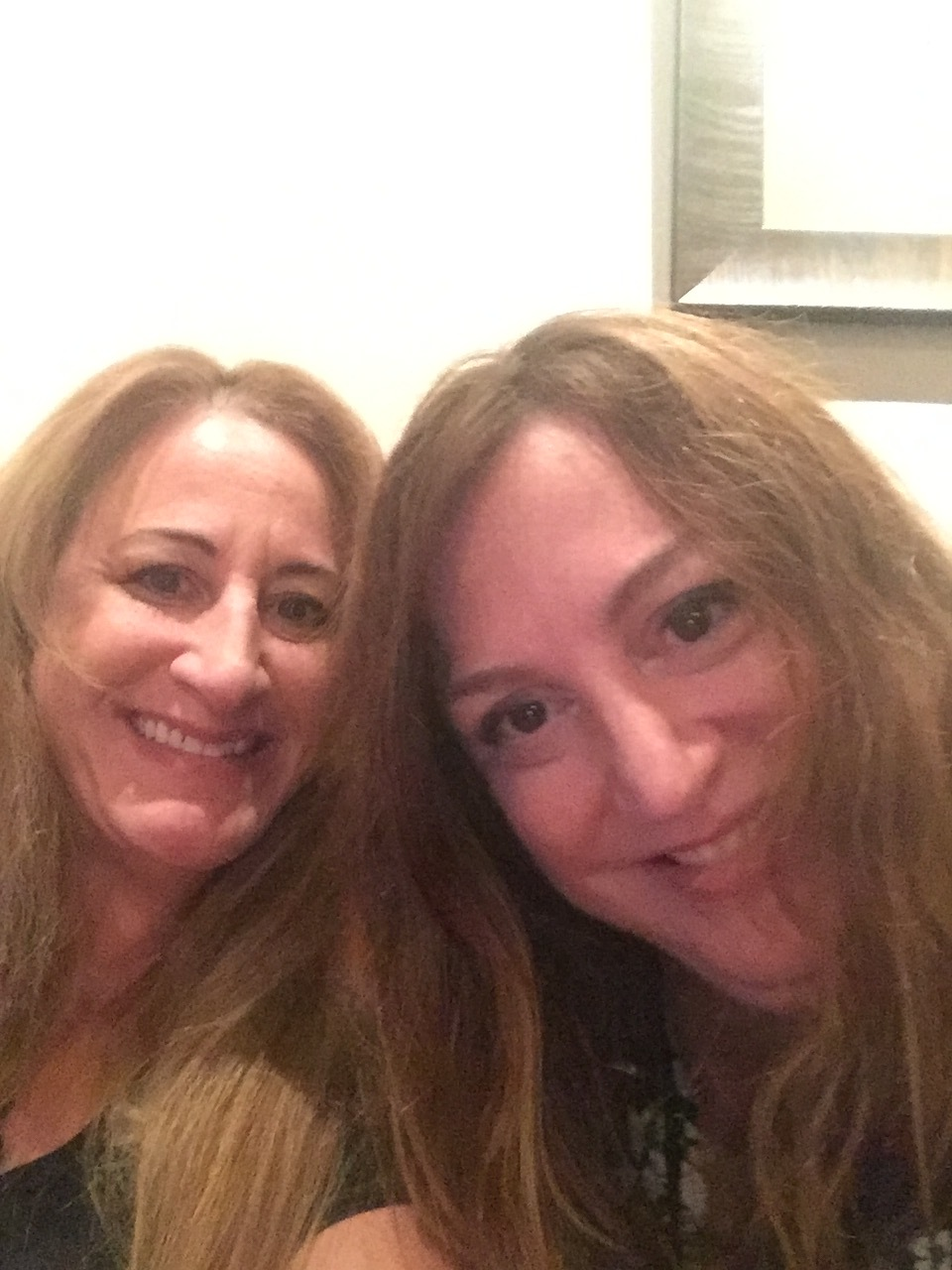 Carolyn with her sister Catherine