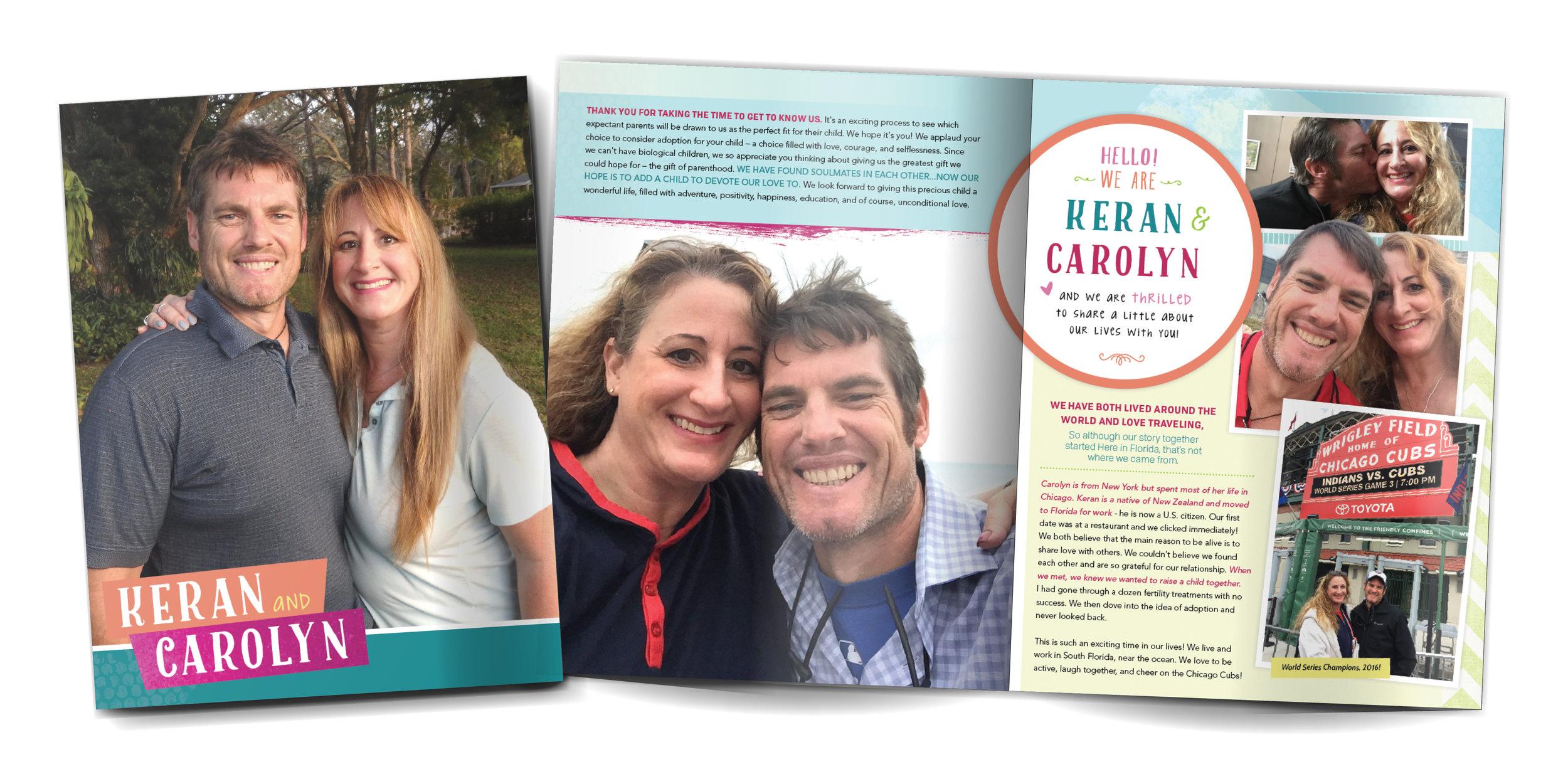 Carolyn and Keran adopt