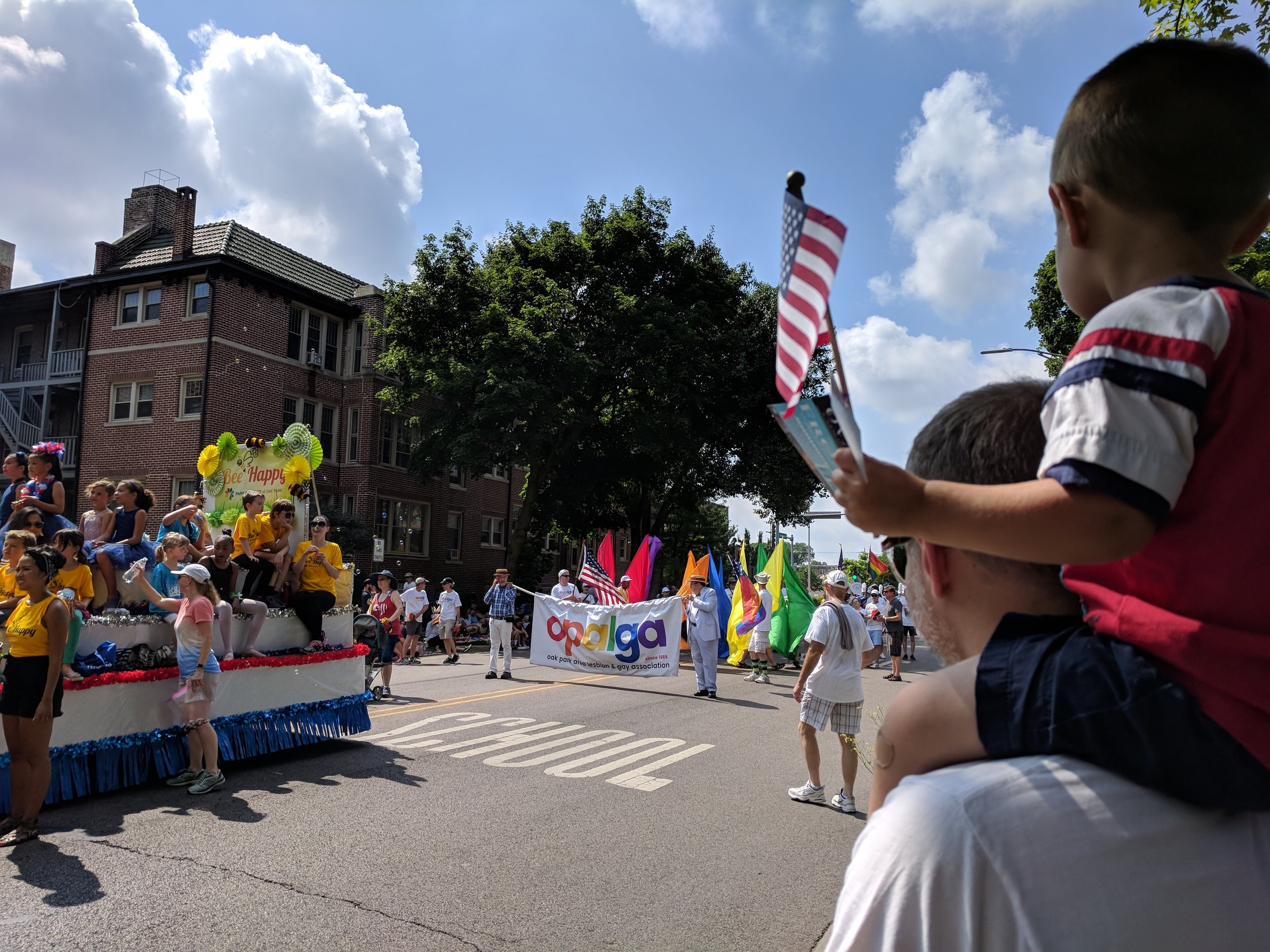 Andy and Isaac at our local 4th of July parade
