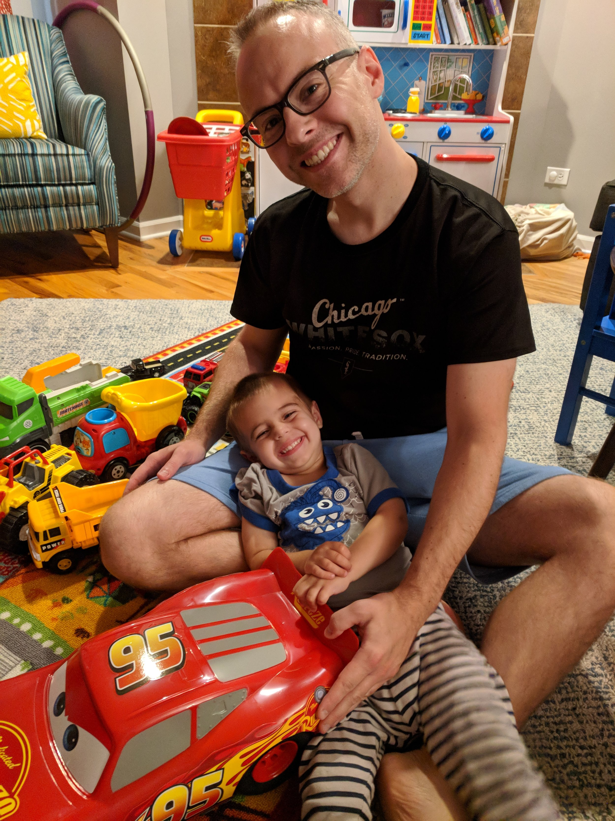 Hanging out with cars and Dad on a Saturday morning