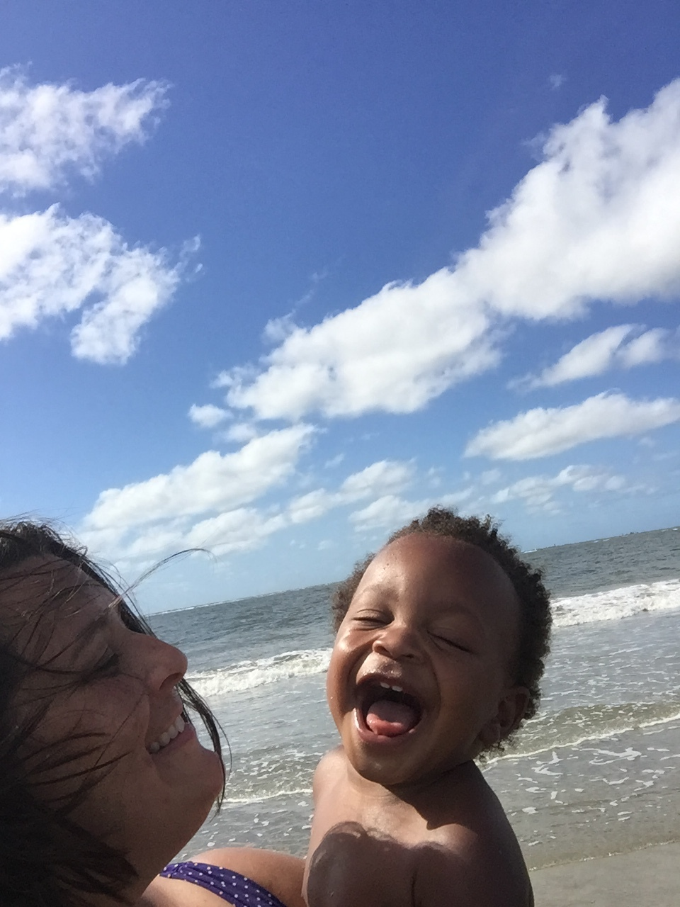 Pure happiness at Charleston beach