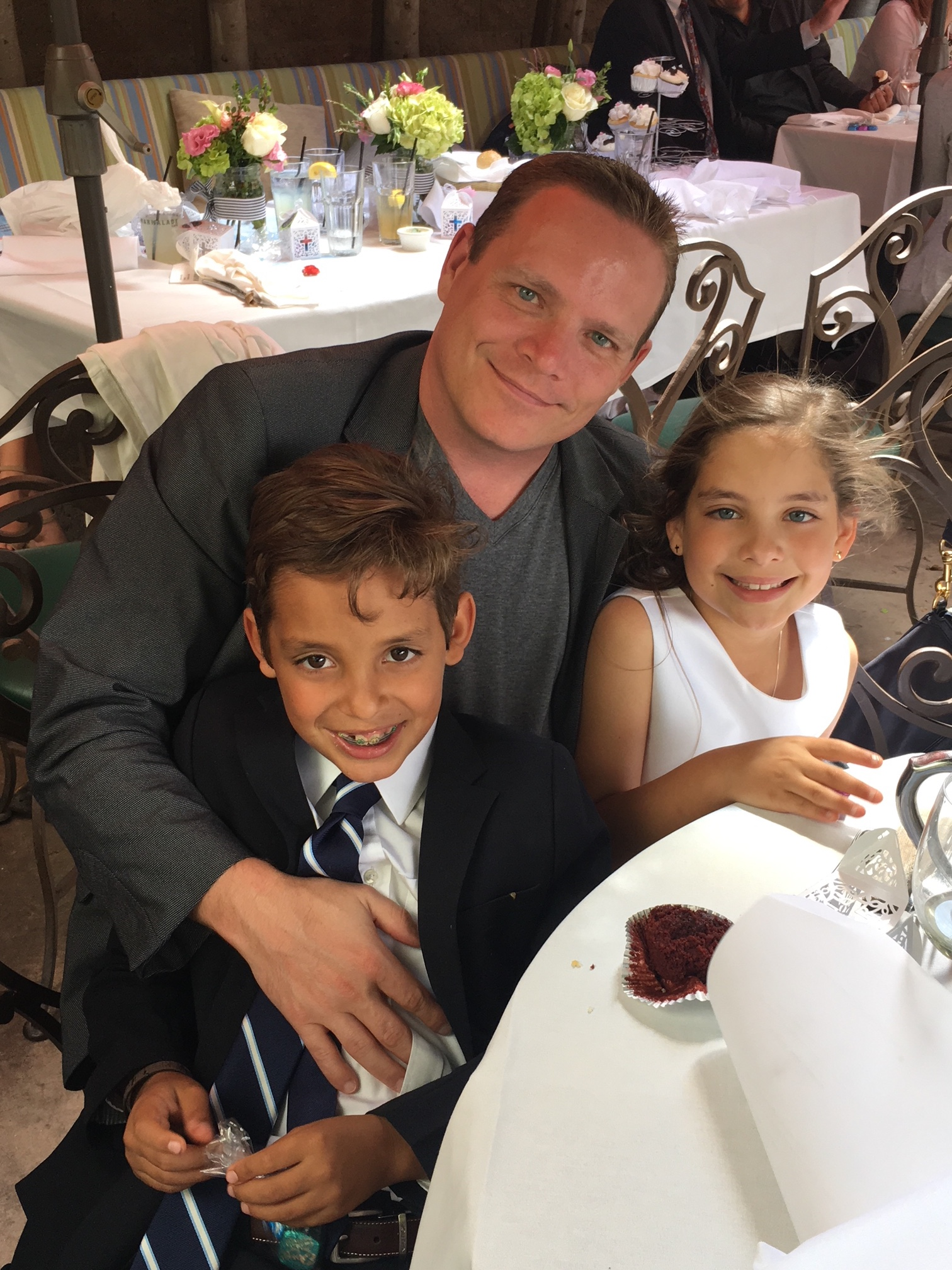 Mike with his niece and nephew