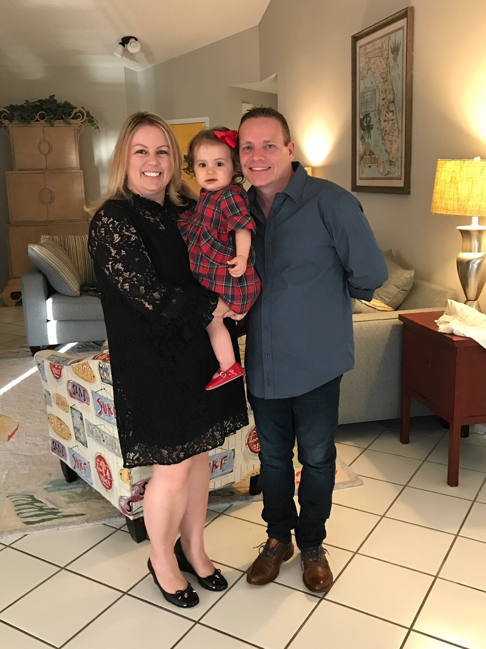 Christmas with our niece Lily