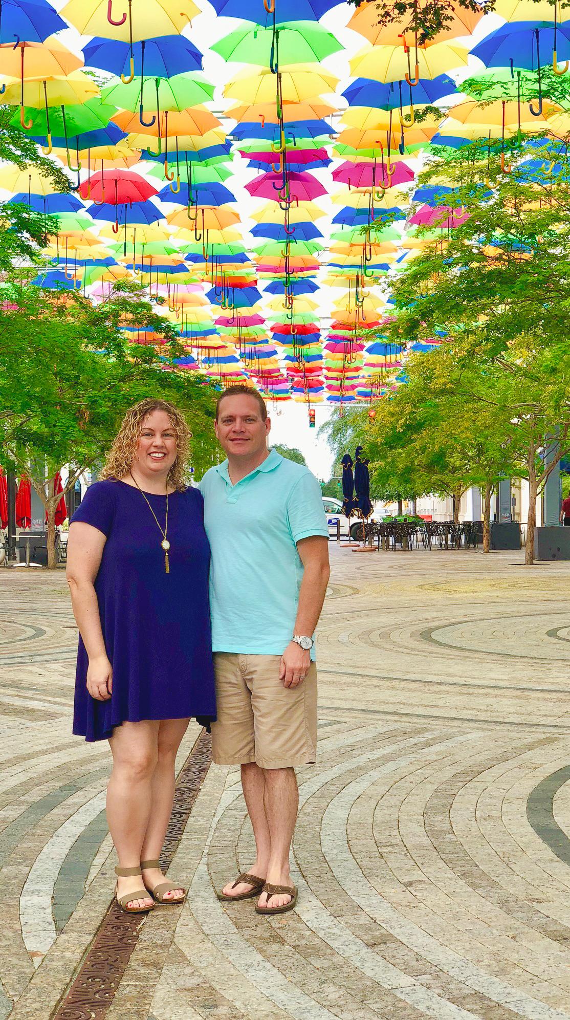 Keri and Mike at Umbrella Sky project