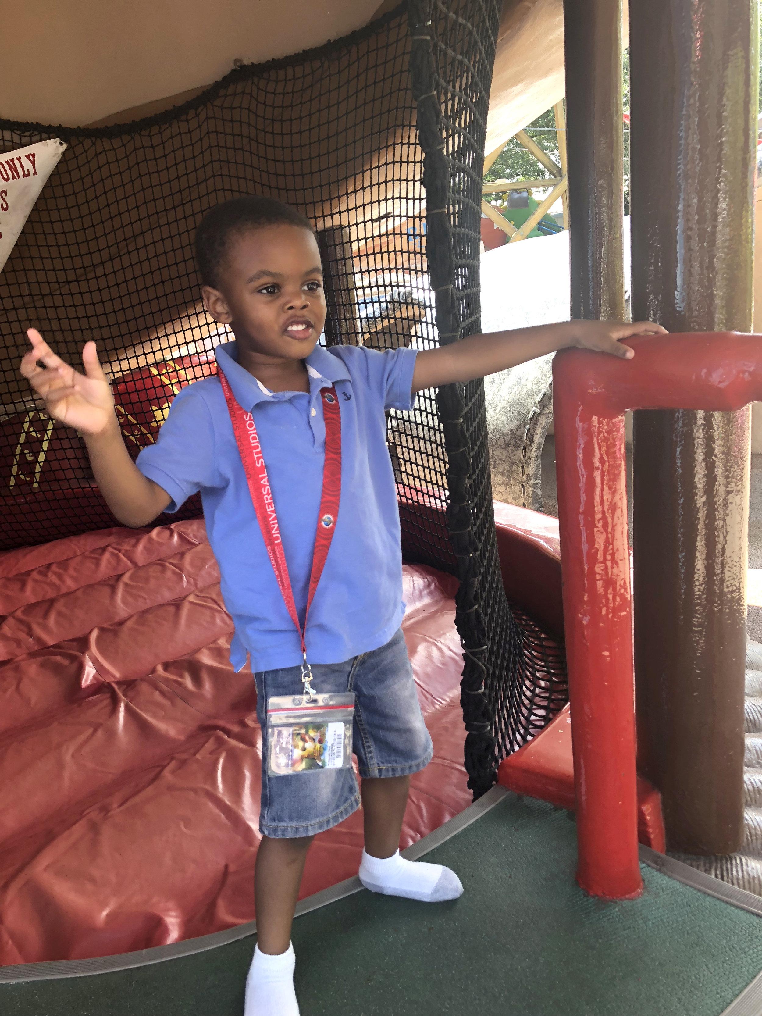Meet Zion-Enjoying a bounce house