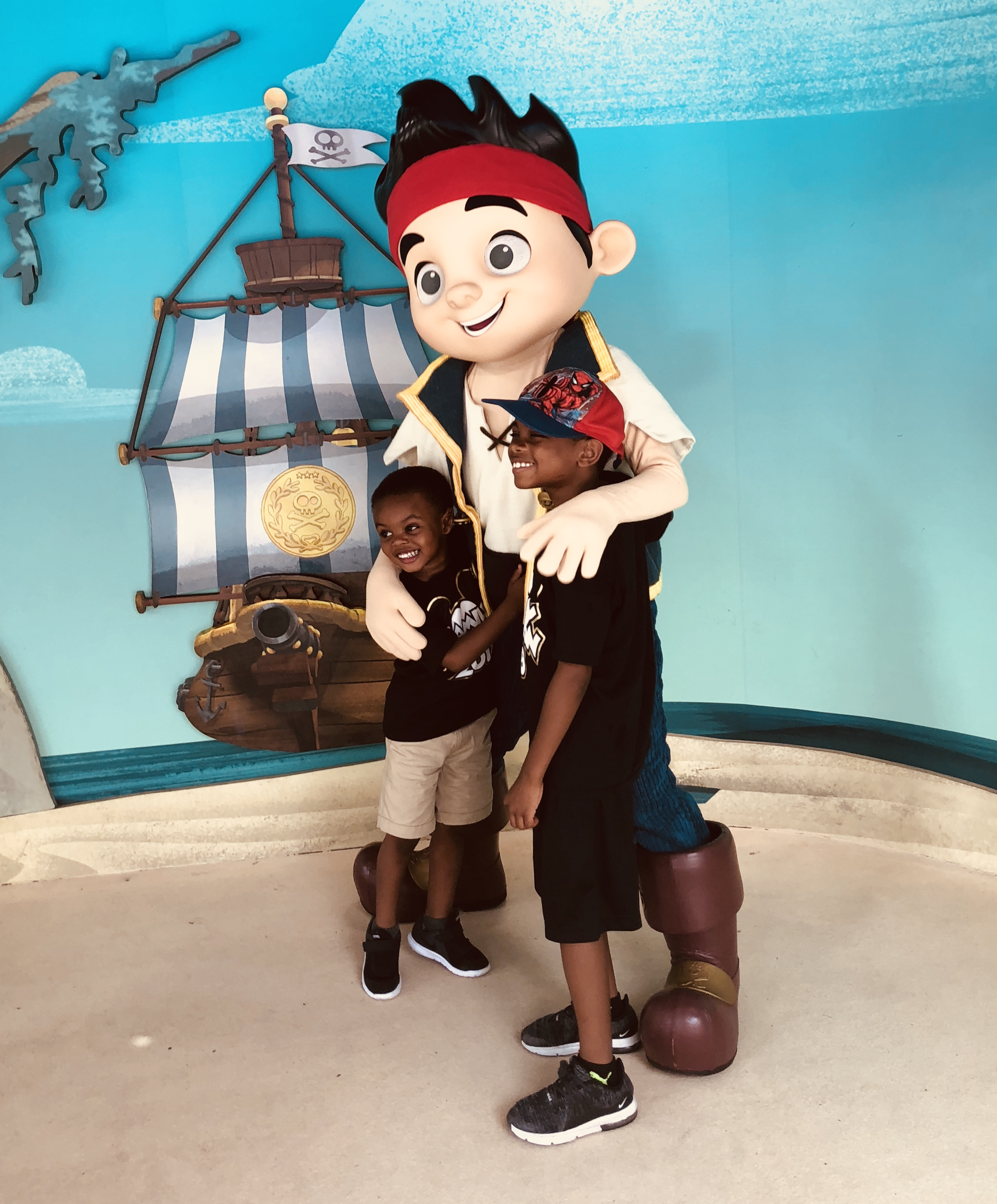 Roman and Zion with the Neverland Pirates