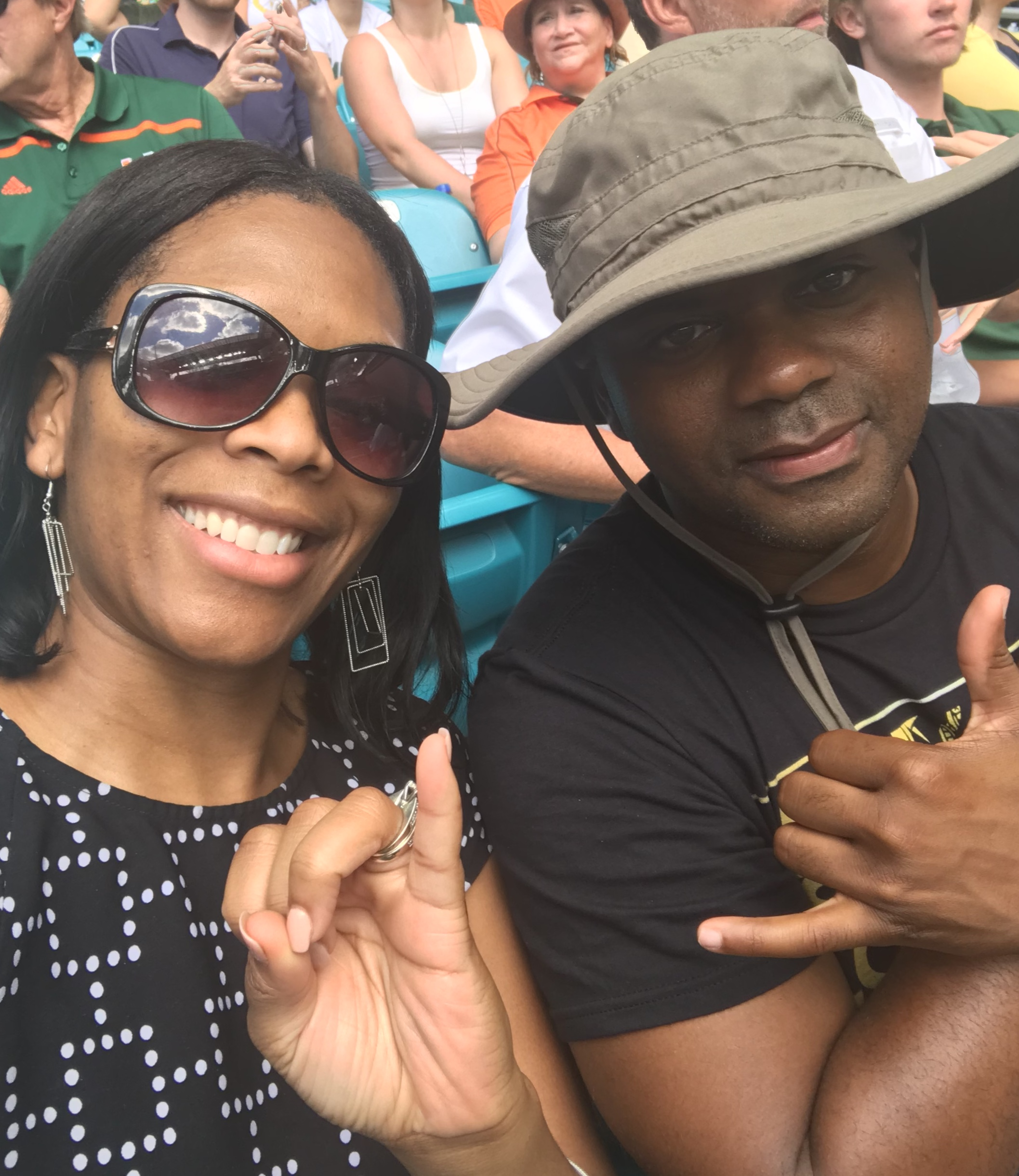 Enjoying a University of Miami football game