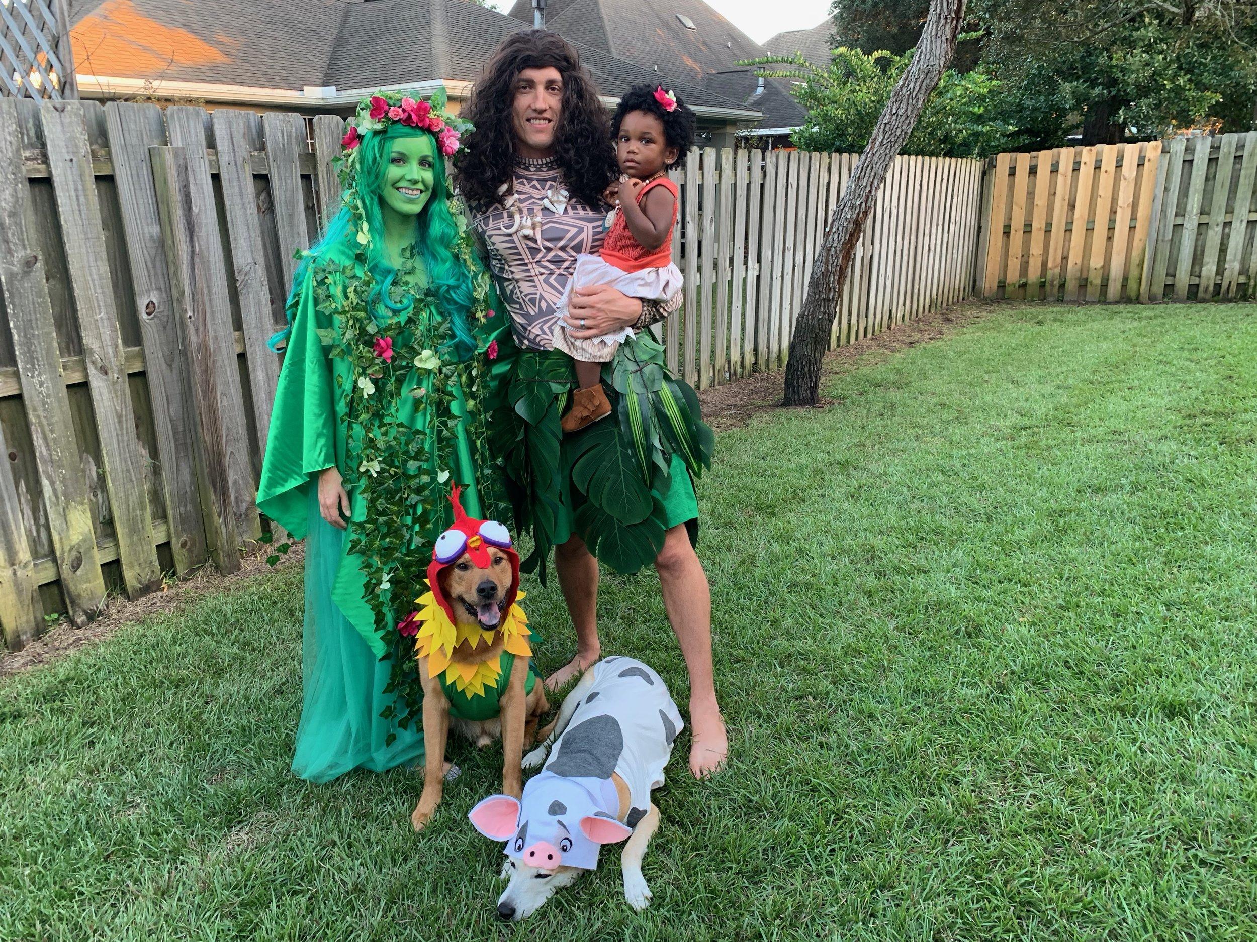 Halloween 2018 - Te Fiti, Maui, Moana, Hei Hei and Pua