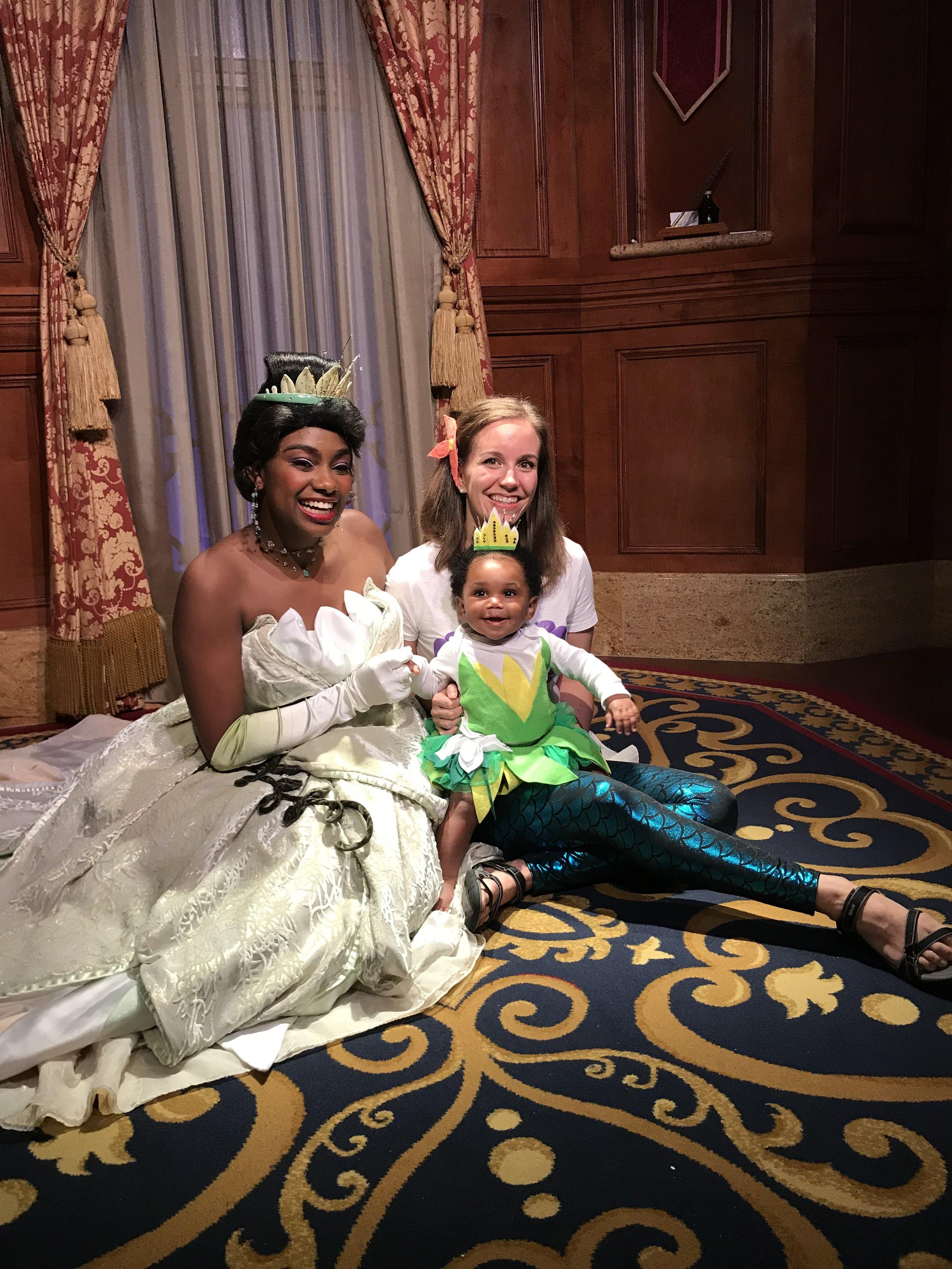 Visiting Princess Tiana at Disney World