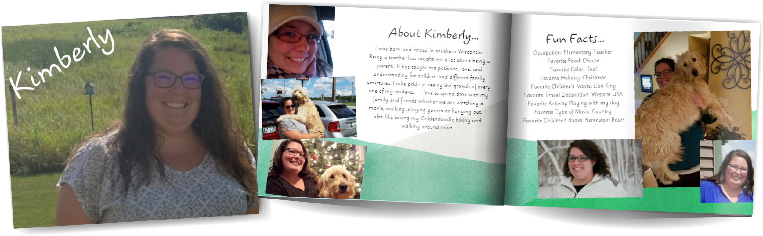Adoption profile book for Kimberly