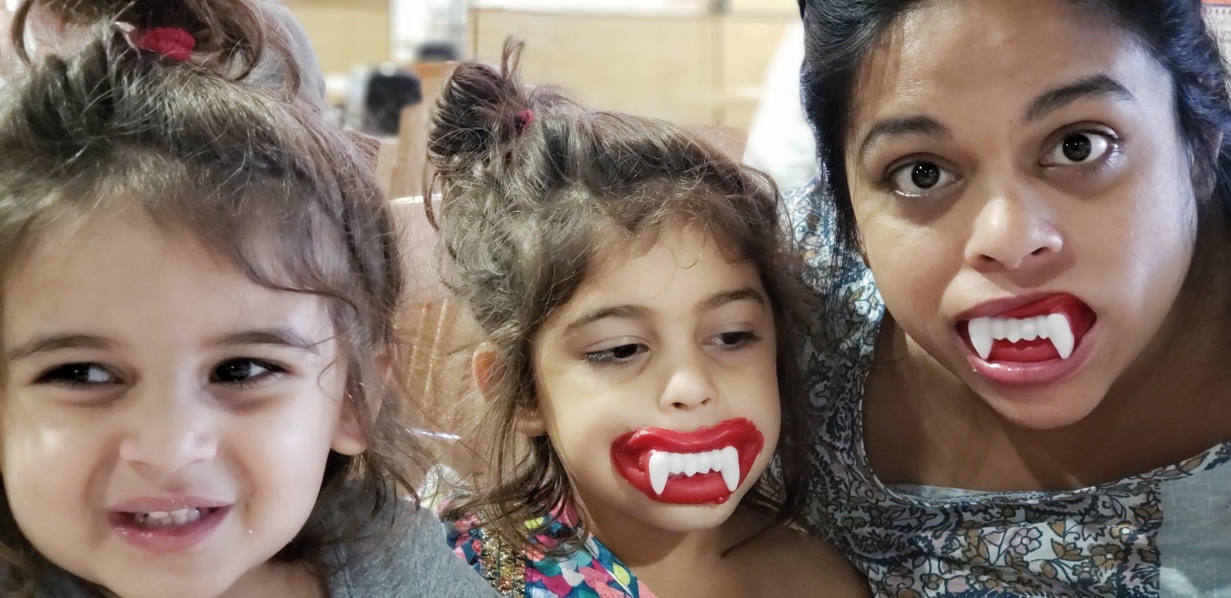 Goofing around on Halloween