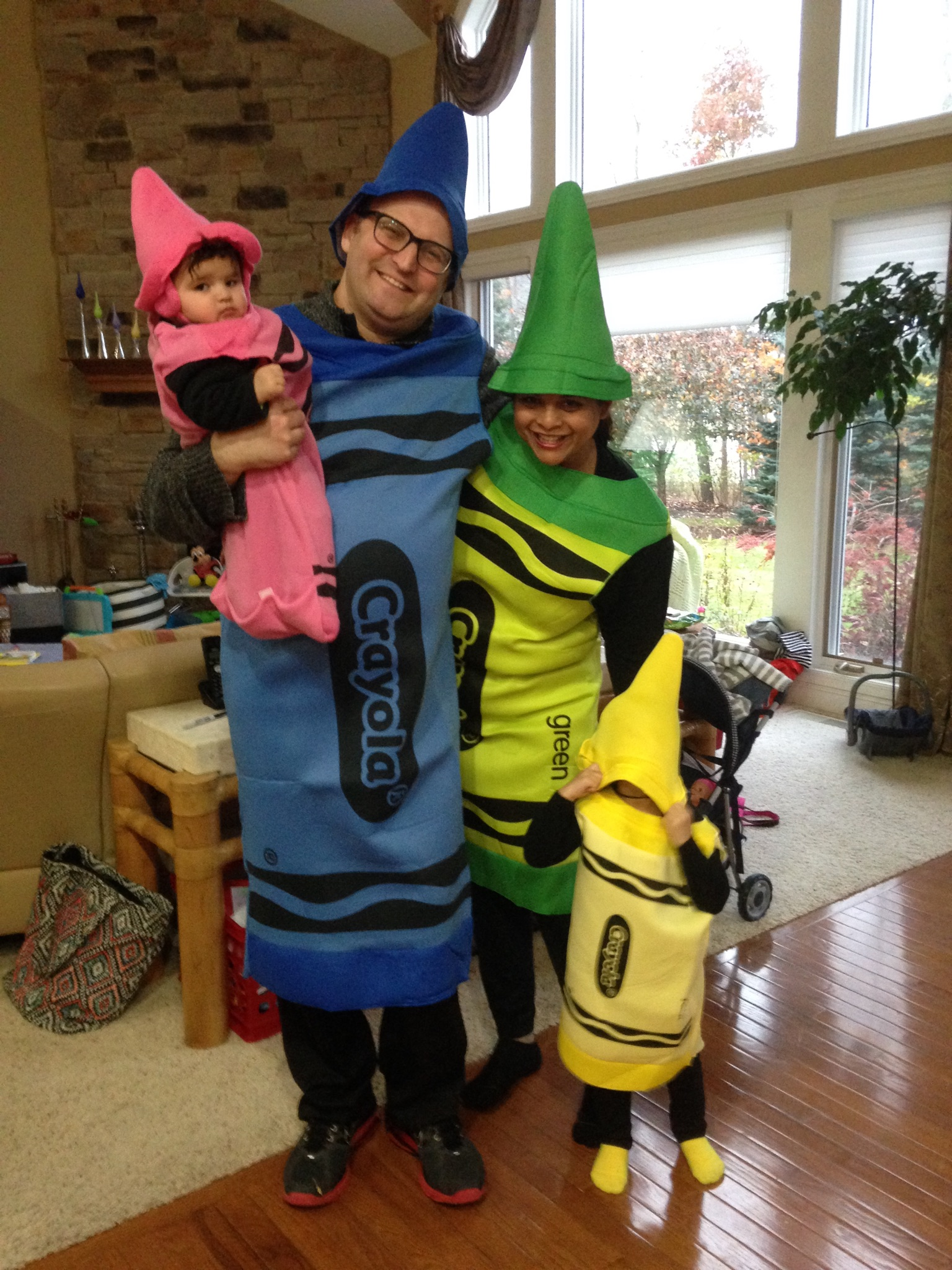 The crayon family at Halloween