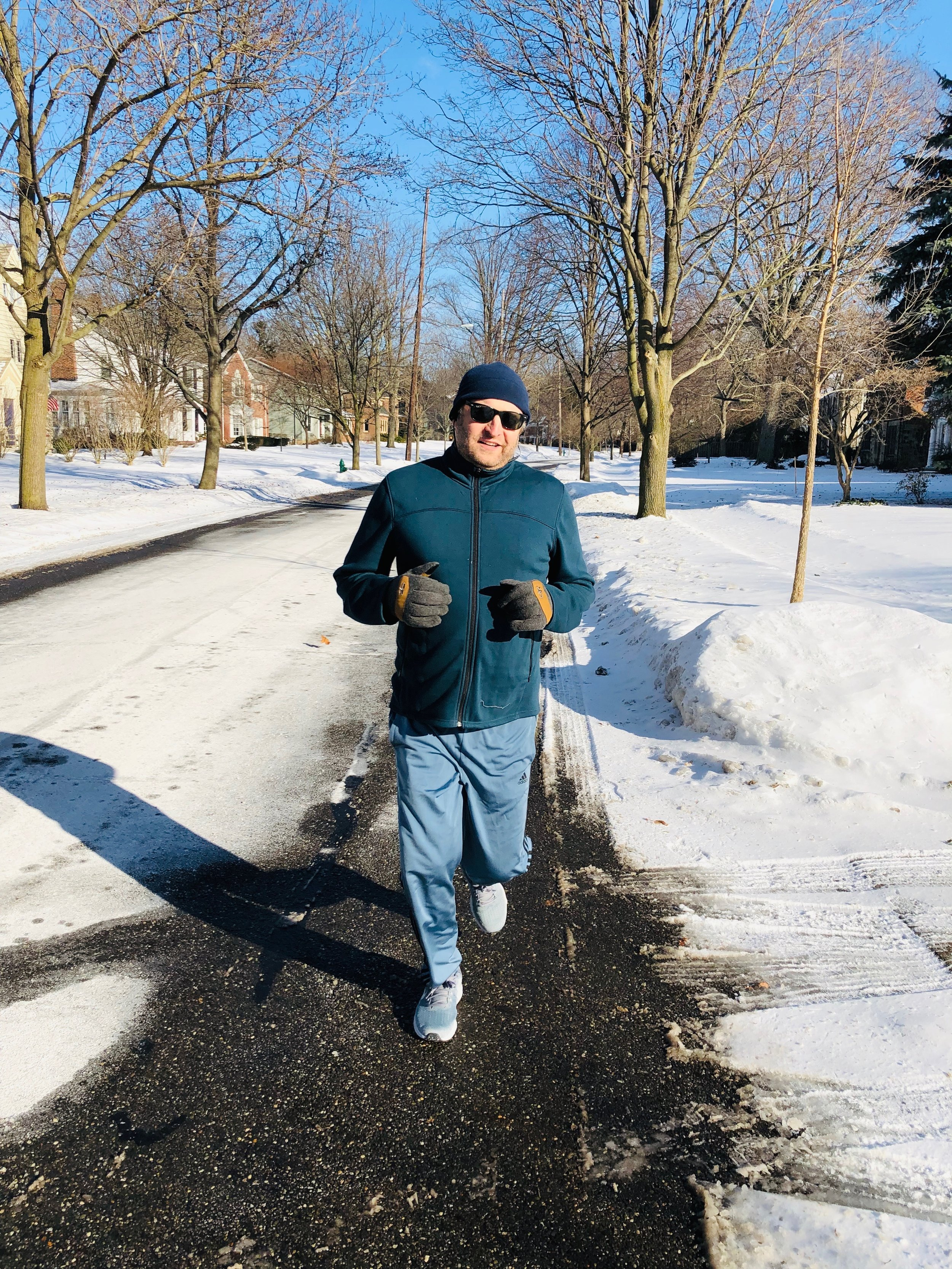 Alex finishing up a run