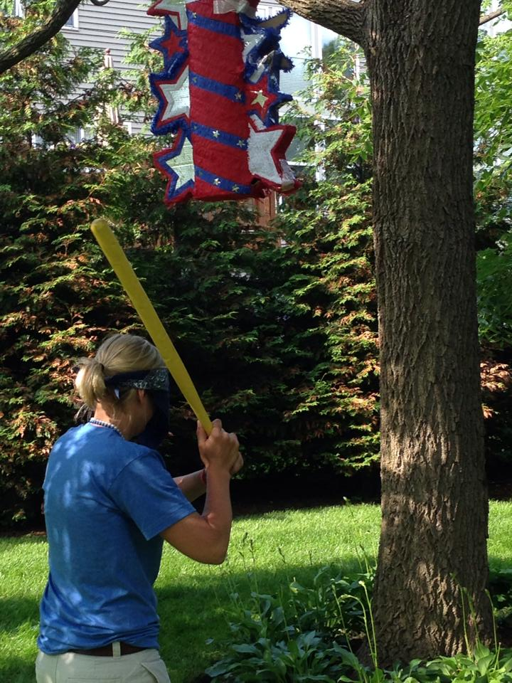 Fourth of July celebrations always include a pinata.