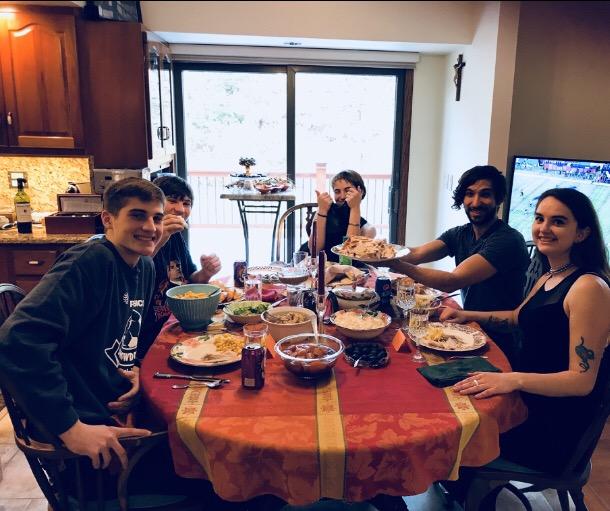 Dinner at Grandma's house.