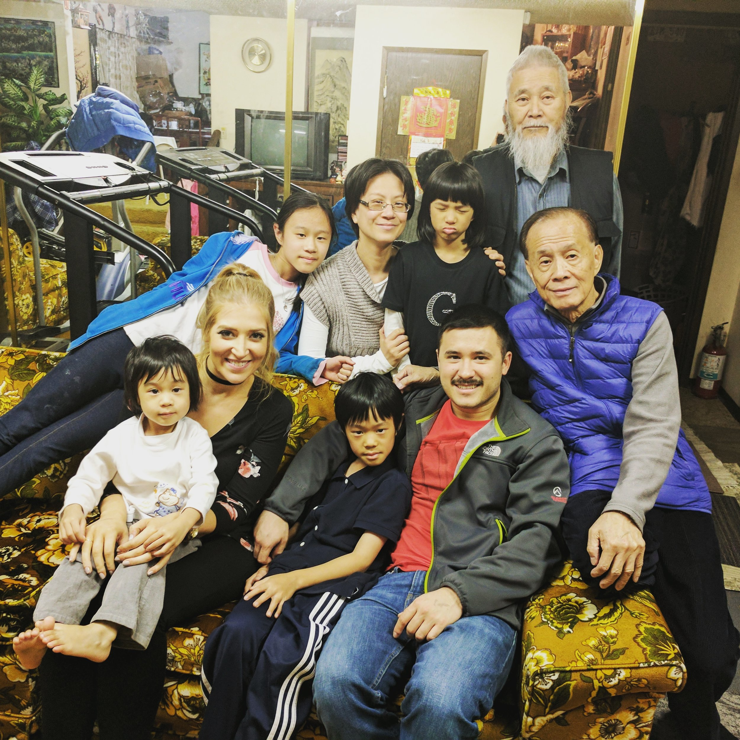 With Geoff's family