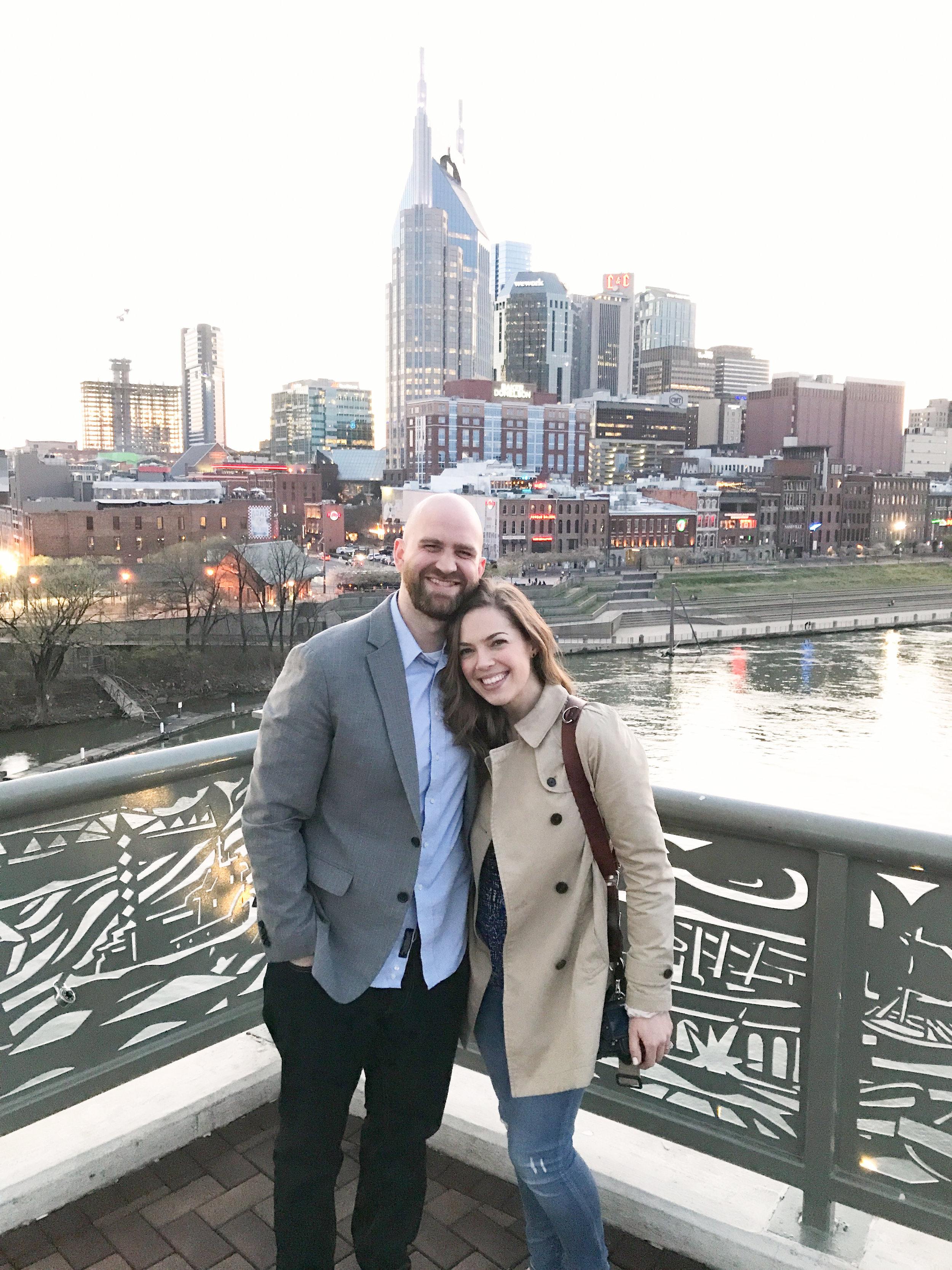In Nashville for a photo shoot- we loved how walkable the city is and had fun zipping around on electric scooters.