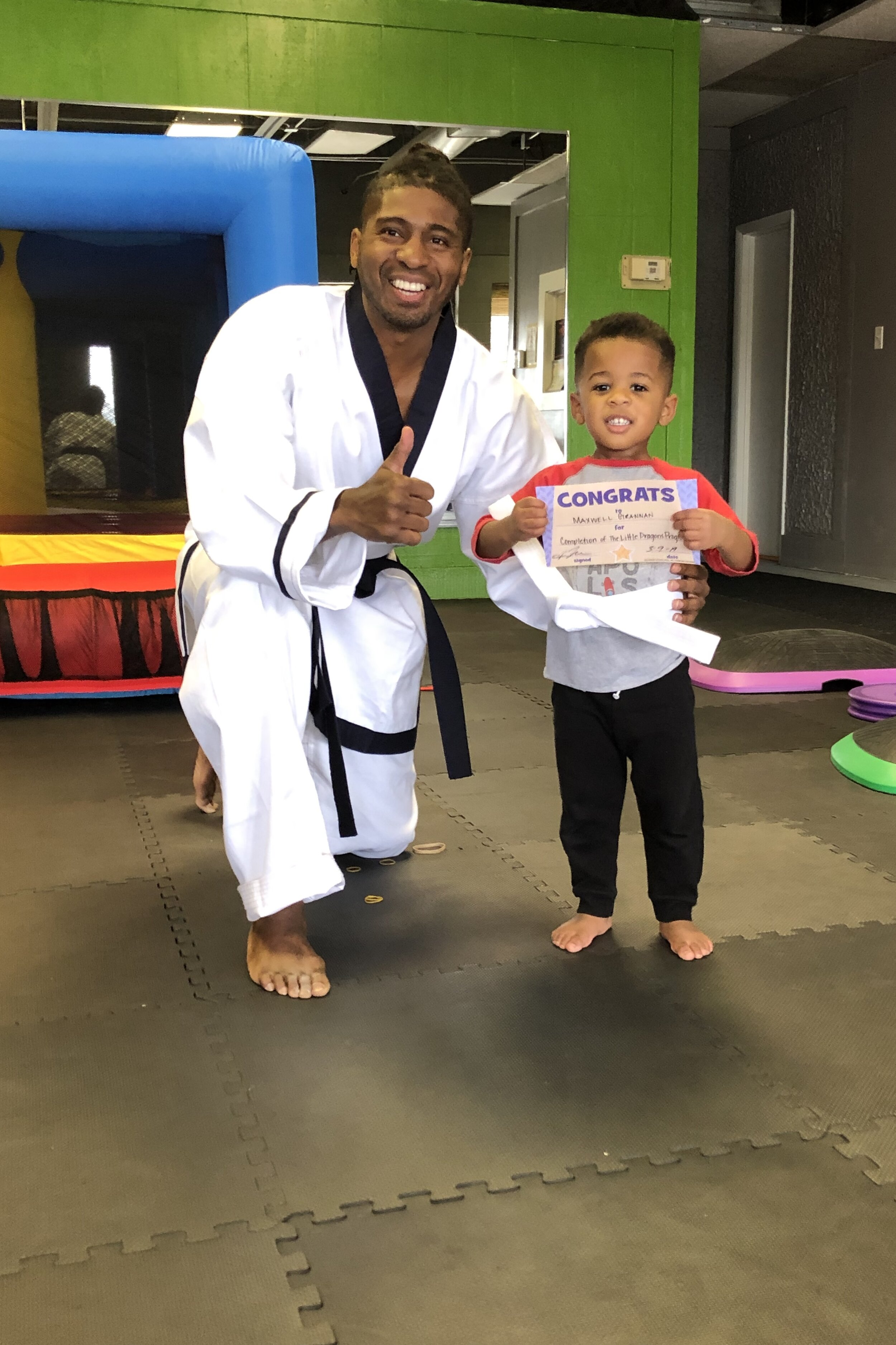 Maxwell's first martial arts class (that continues this fall)