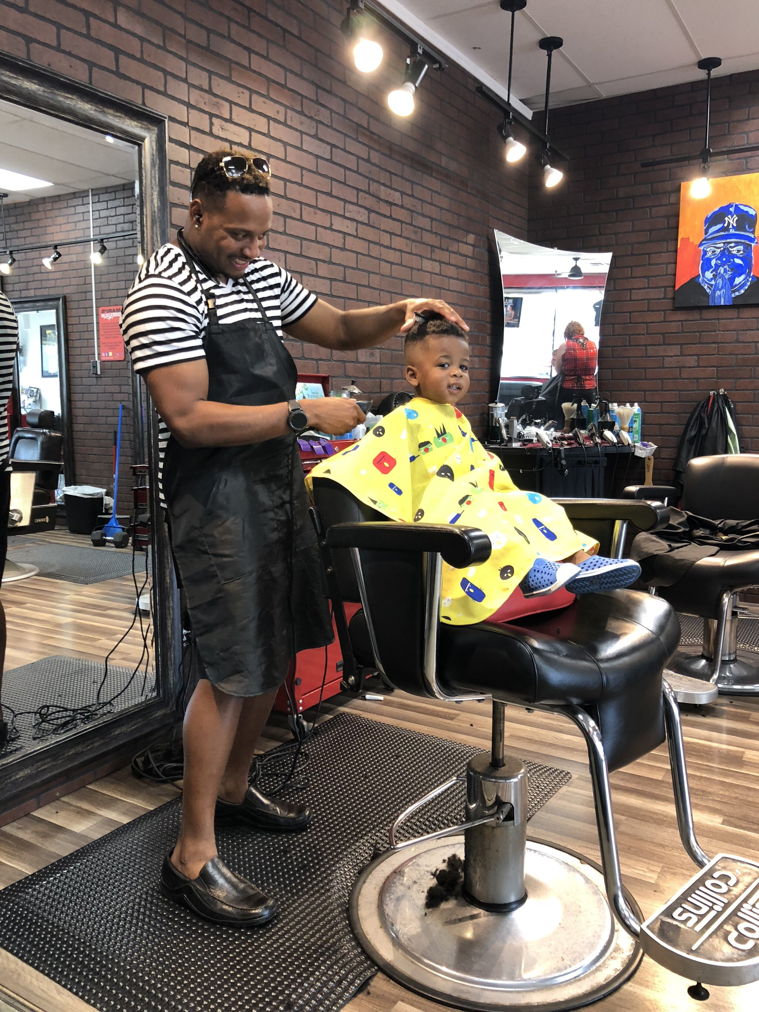 Maxwell has had the same barber since his first hair cut at 13 months old
