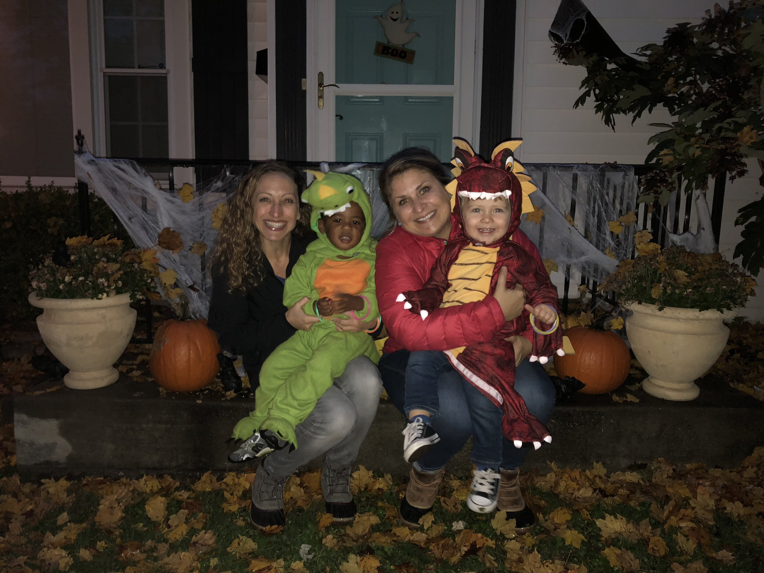 Halloween with my sister and nephew