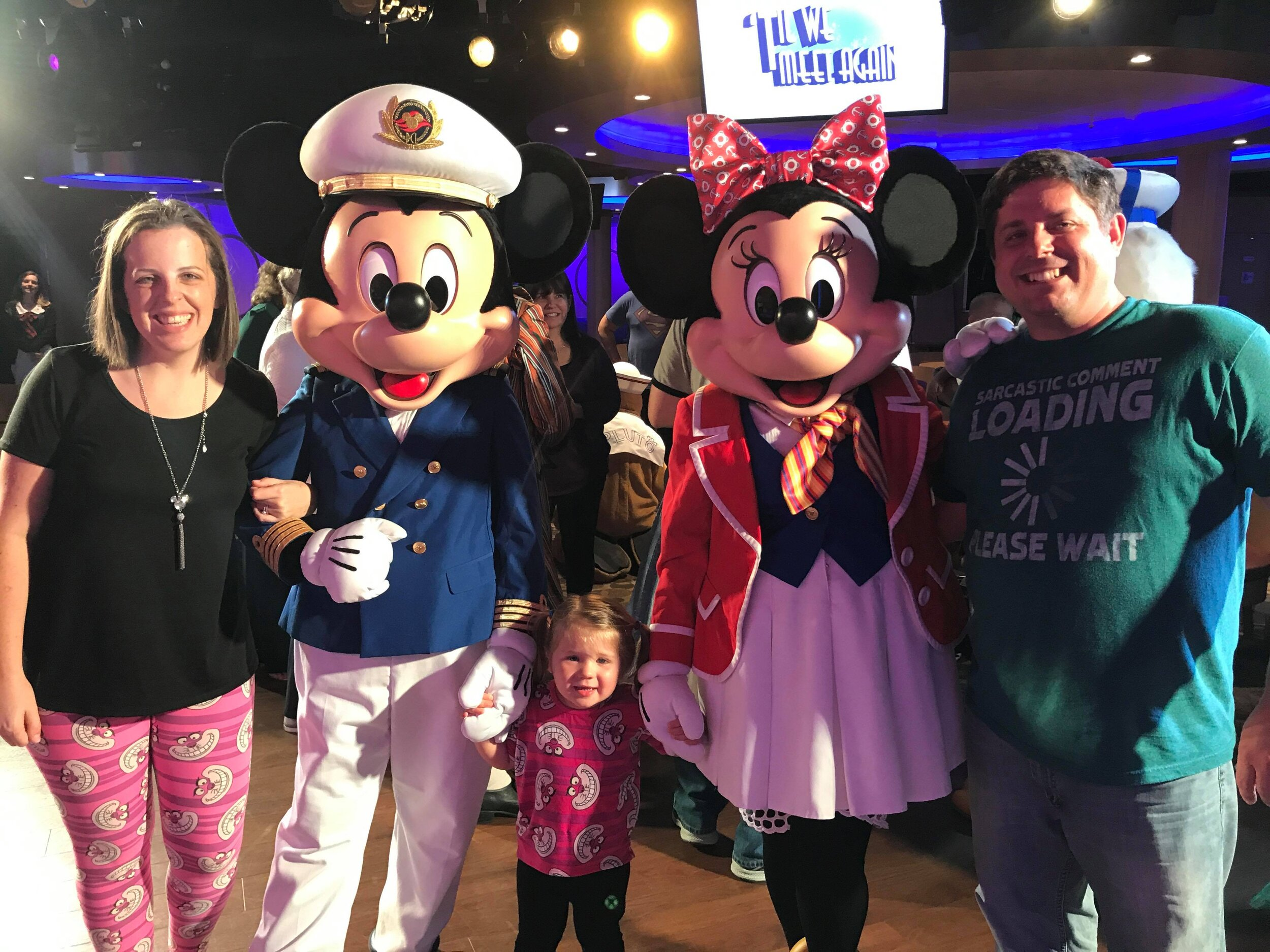Hanging with Mickey and Minnie on the Disney Cruise