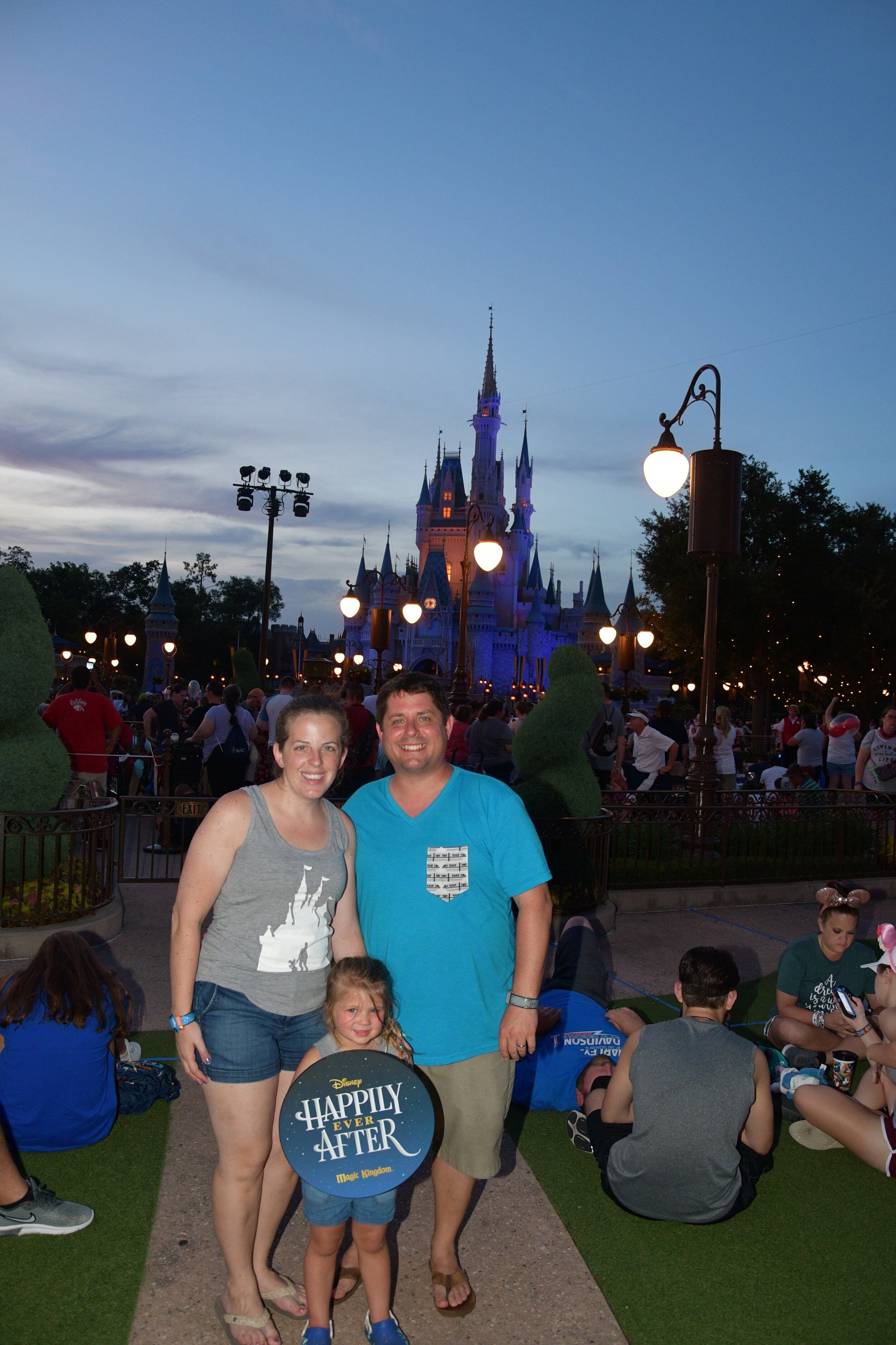 Watching the fireworks in Magic Kingdom