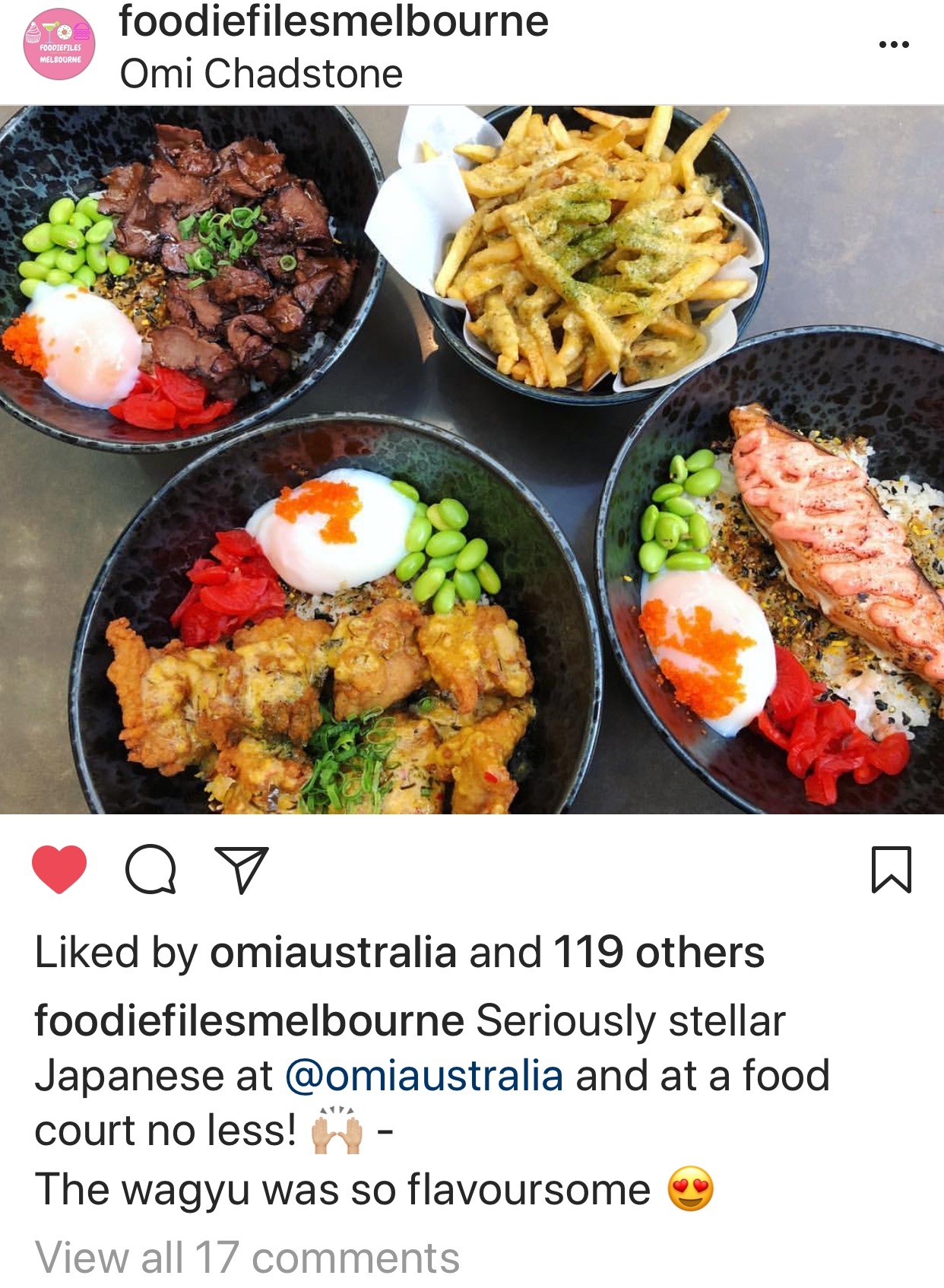 foodiefliesmelbourne Omi Wagyu