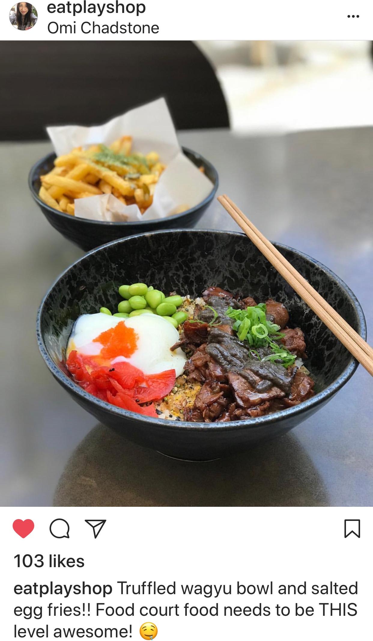 eatplayshop omi wagyu bowl