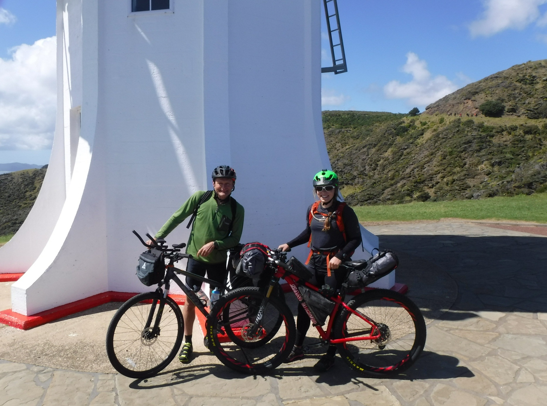 The lighthouse at Cape Reinga (the northern-most point) on Day 1 - Sept 27 2018